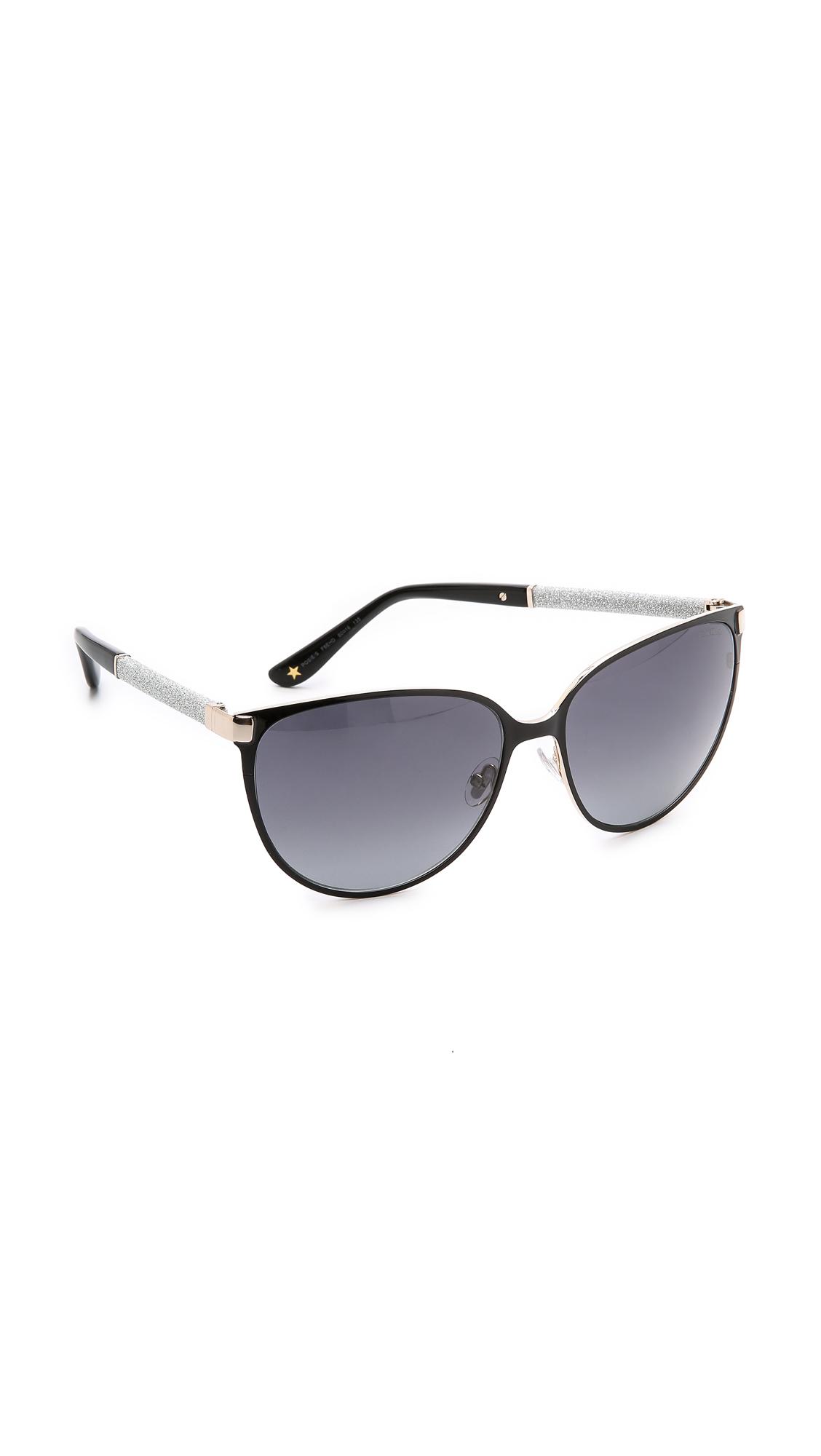 ca8875d6c38 Lyst - Jimmy Choo Posie Sunglasses - Ivory brown in Black