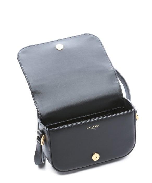 Saint laurent Black Leather \u0026#39;Ysl\u0026#39; Logo Mini Crossbody Bag in Black ...