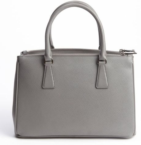 8cce0164f351dc Prada Grey Leather Tote | Stanford Center for Opportunity Policy in ...