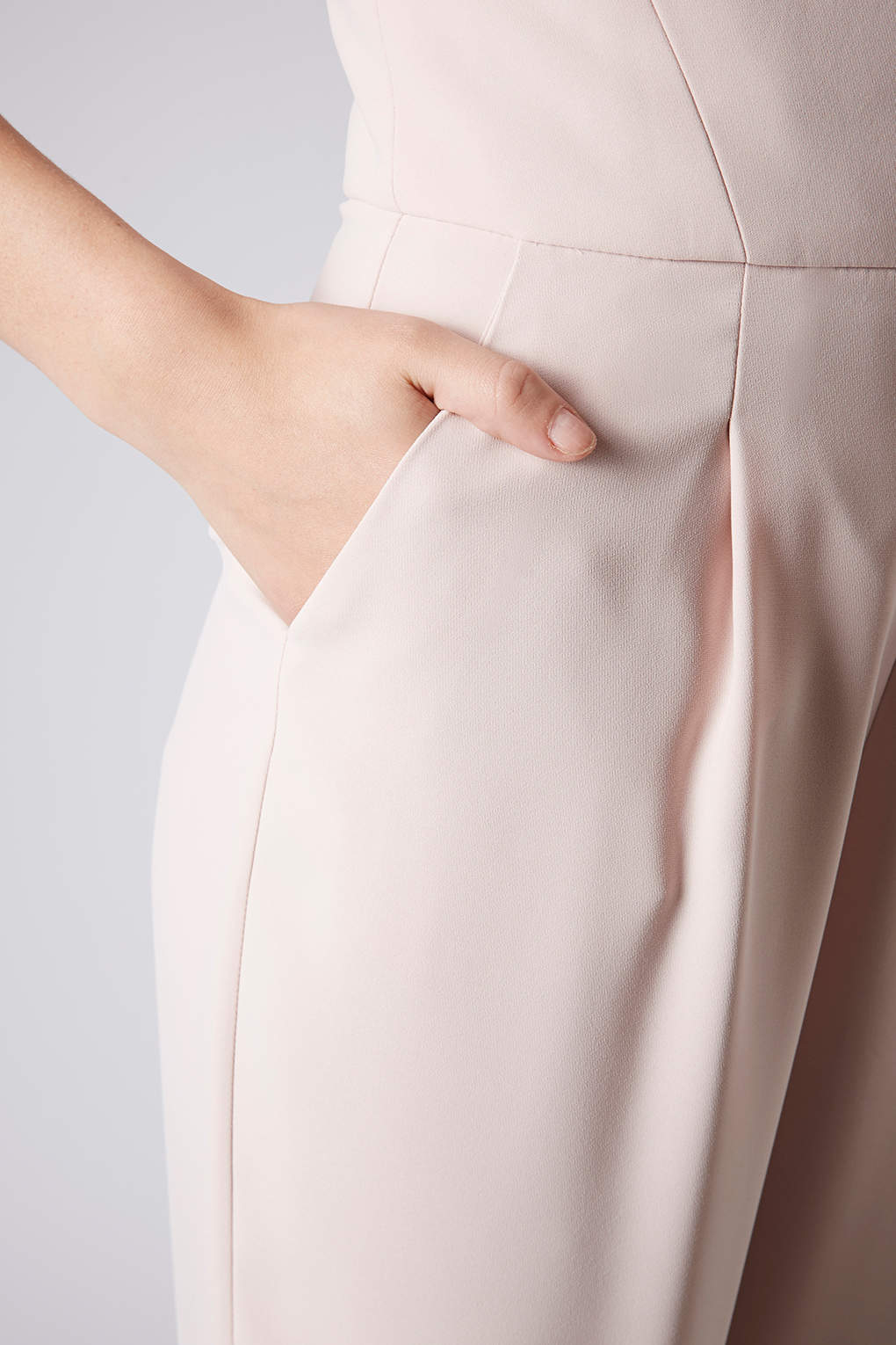 485128f020f Lyst - TOPSHOP Tailored Bandeau Jumpsuit in Pink
