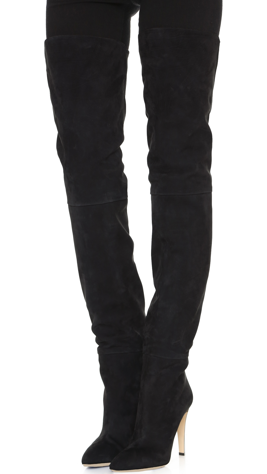 Sergio RossiCindy Leather Thigh-High Boots
