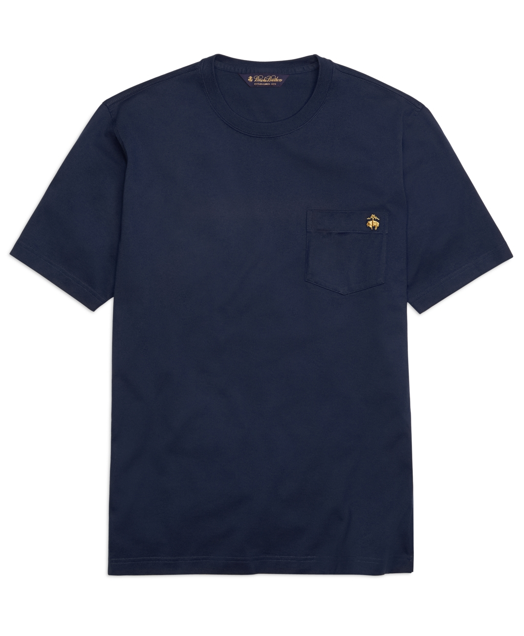 Brooks brothers supima solid tee shirt in blue for men for Brooks brothers tall shirts