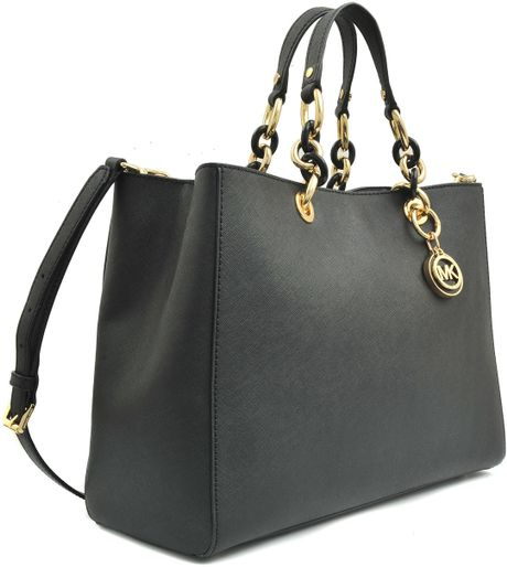 Clearance Michael Kors Cynthia Totes - Mkcheap Michael Kors Boots Black With Brown Top