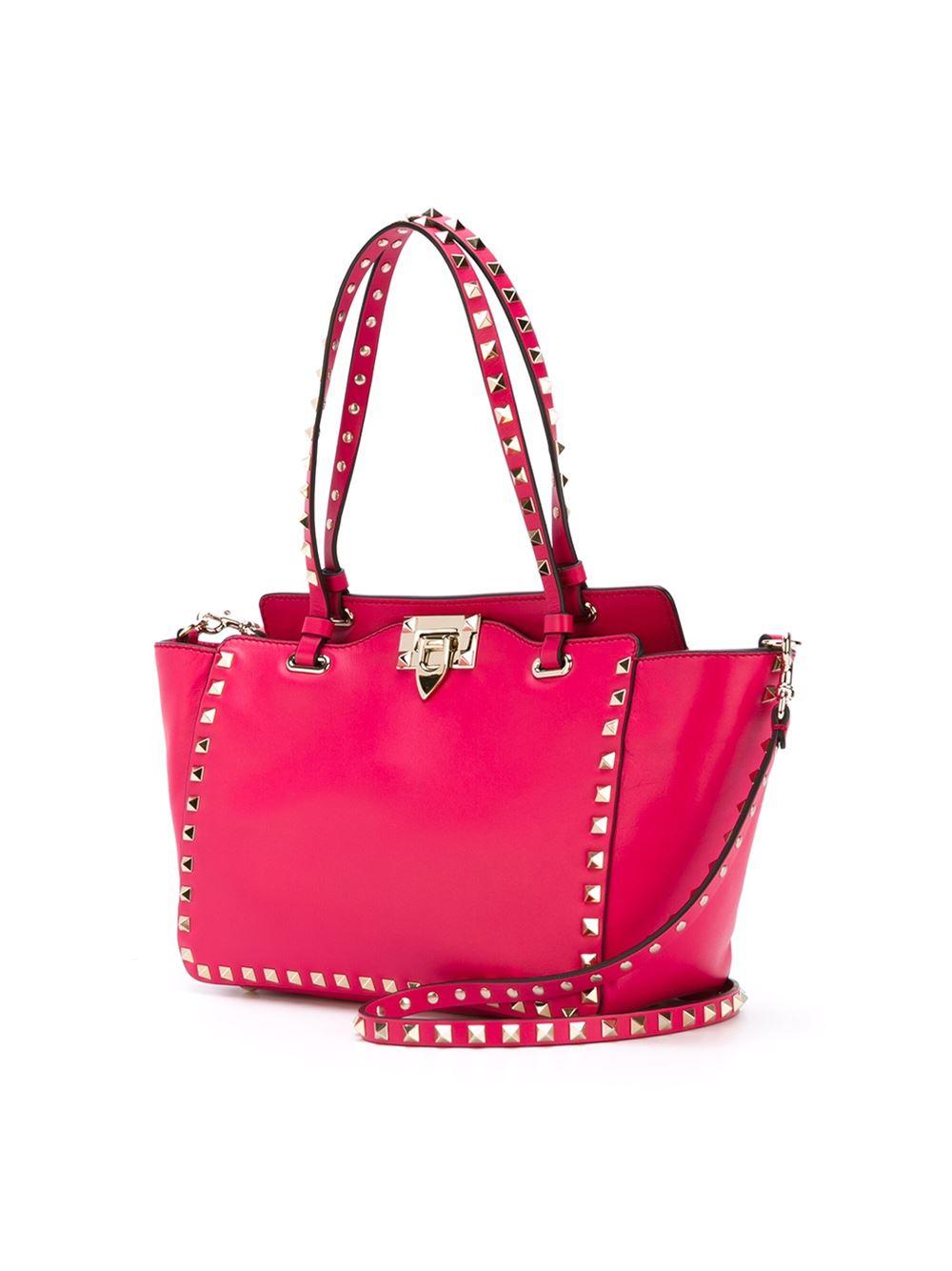 valentino rockstud bag in pink lyst. Black Bedroom Furniture Sets. Home Design Ideas
