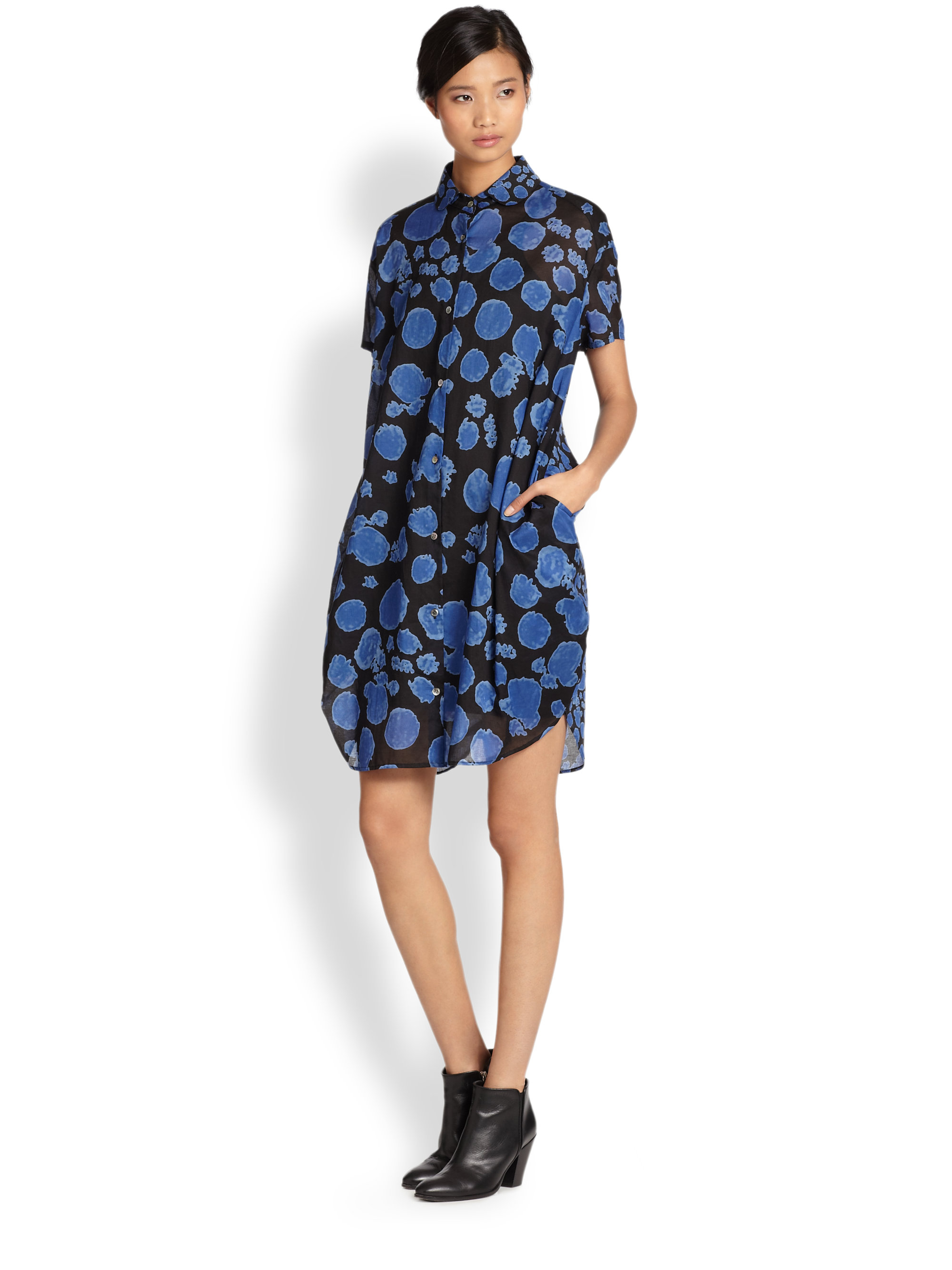Shop For Cheap Price Hot Tsumori Chisato printed shirt dress Deals Online Official Site Cheap Price BUrm0ILN