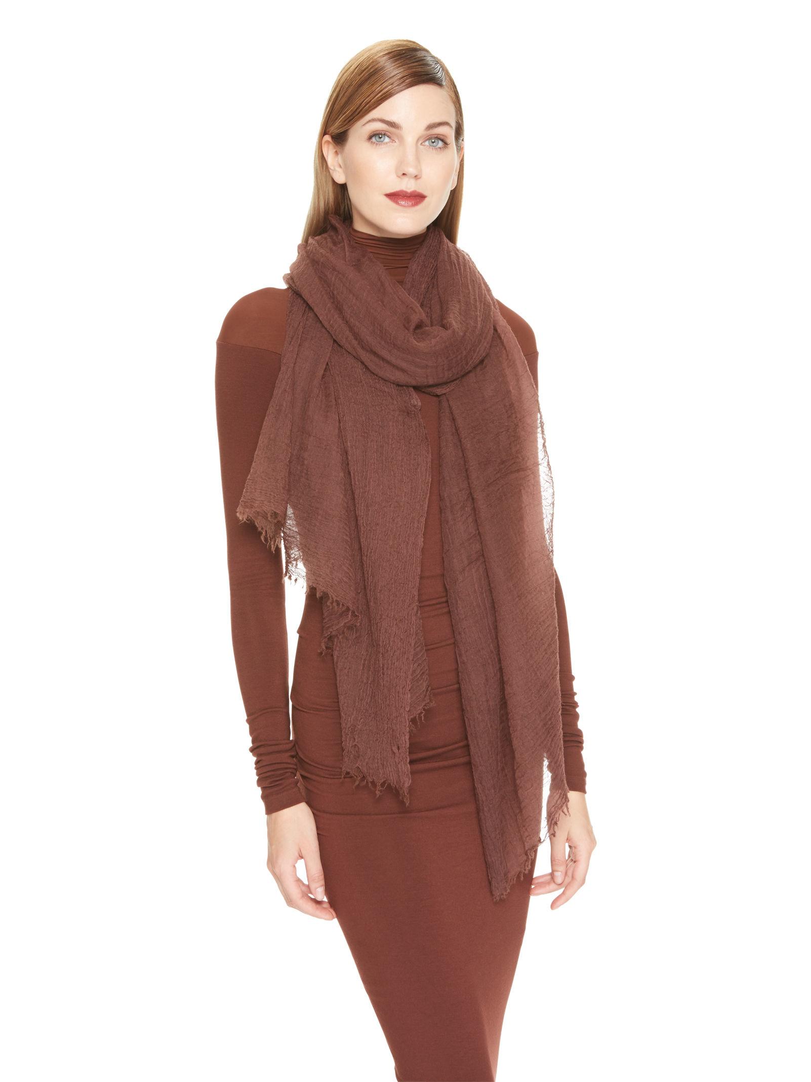 donna karan new york cashmere scarf in red auburn lyst. Black Bedroom Furniture Sets. Home Design Ideas