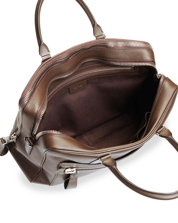 lyst tom ford leather computer briefcase in brown for men. Black Bedroom Furniture Sets. Home Design Ideas