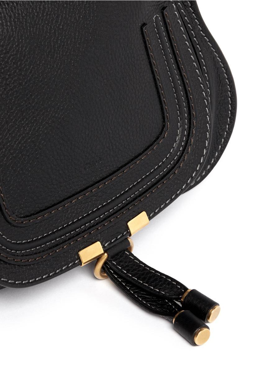 Lyst Chlo 233 Baby Marcie Mini Leather Bag In Black