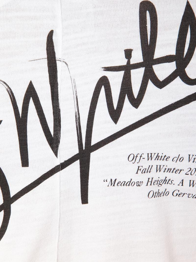 Lyst Off White C O Virgil Abloh Logo Print T Shirt In