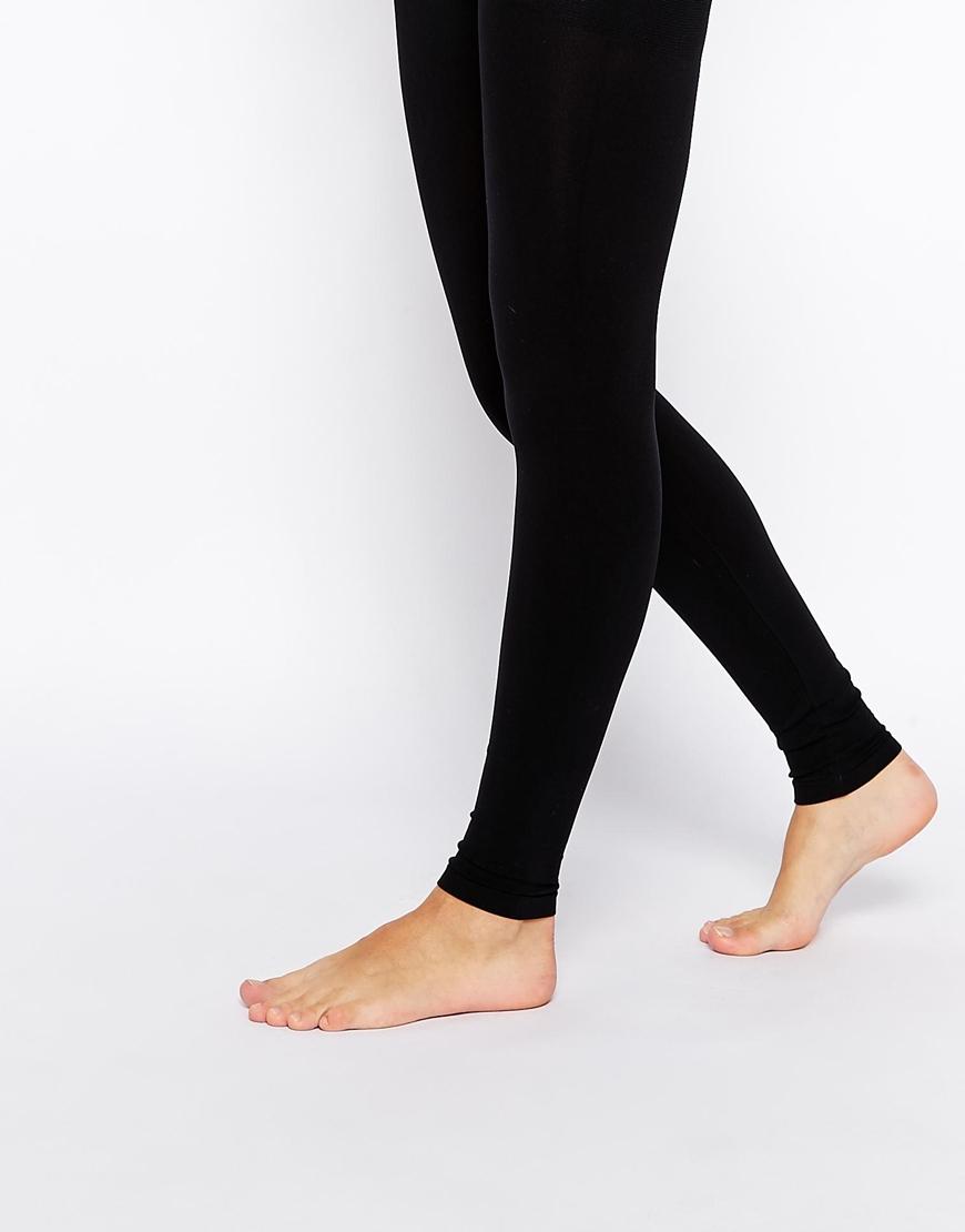 f0aa91e9922 Asos 120 Denier Slimming Footless Tights - Black in Black - Lyst