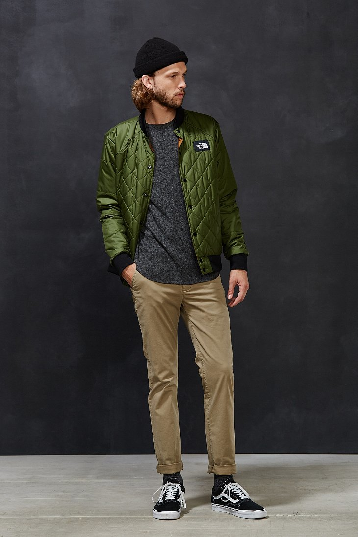 The North Face Jester Bomber Jacket In Green For Men Lyst