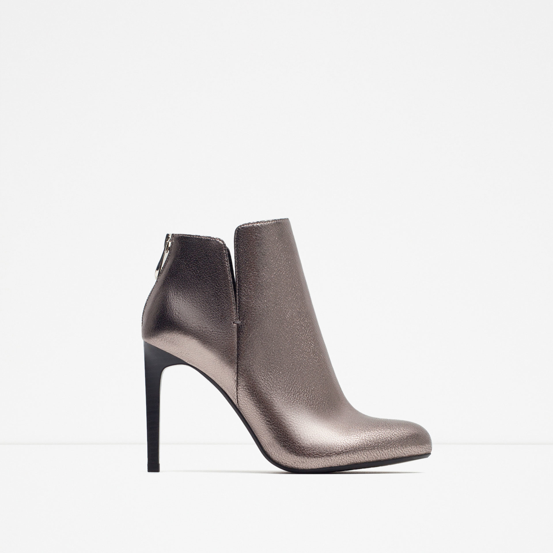 Silver Ankle Boots Heels