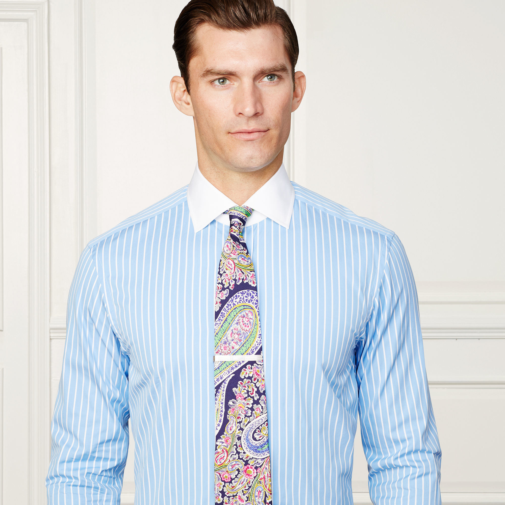 Lyst - Ralph Lauren Purple Label Aston French-cuff Dress Shirt in Blue for Men