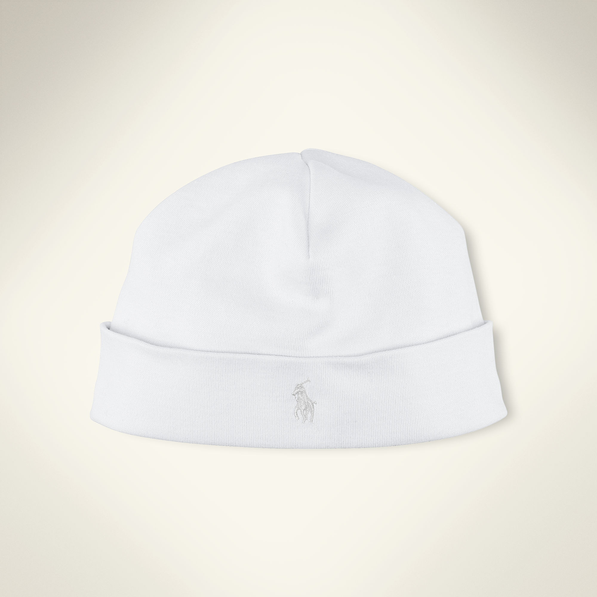 Ralph Lauren White Beanie in White for Men - Lyst 05c5cc1893d