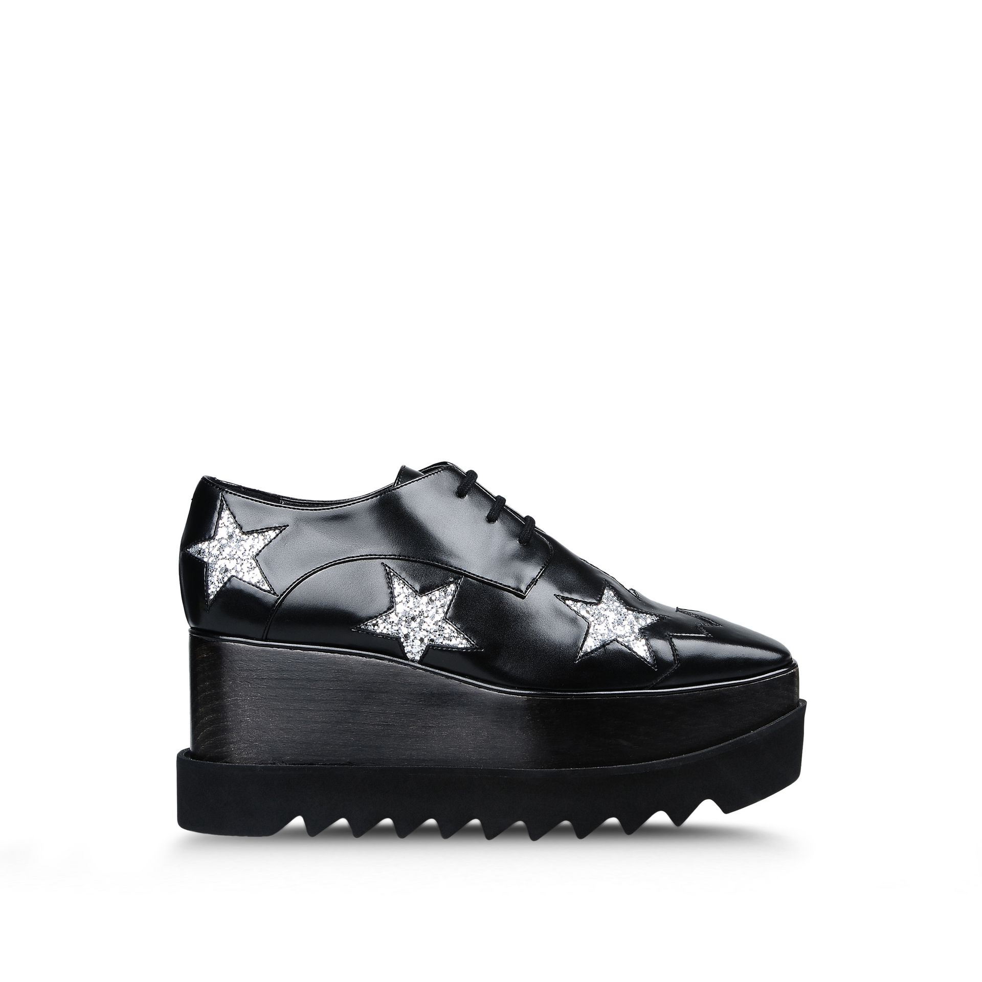 aff7f051d356 Lyst - Stella McCartney Elyse Leather Oxford Shoes in Black