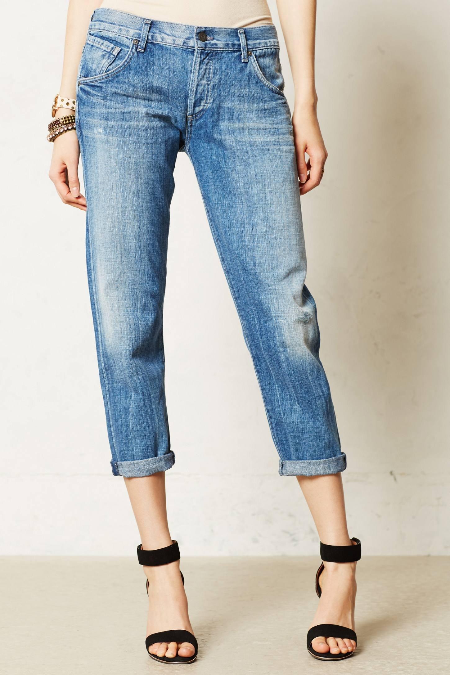 citizens of humanity skylar boyfriend jeans in blue lyst. Black Bedroom Furniture Sets. Home Design Ideas