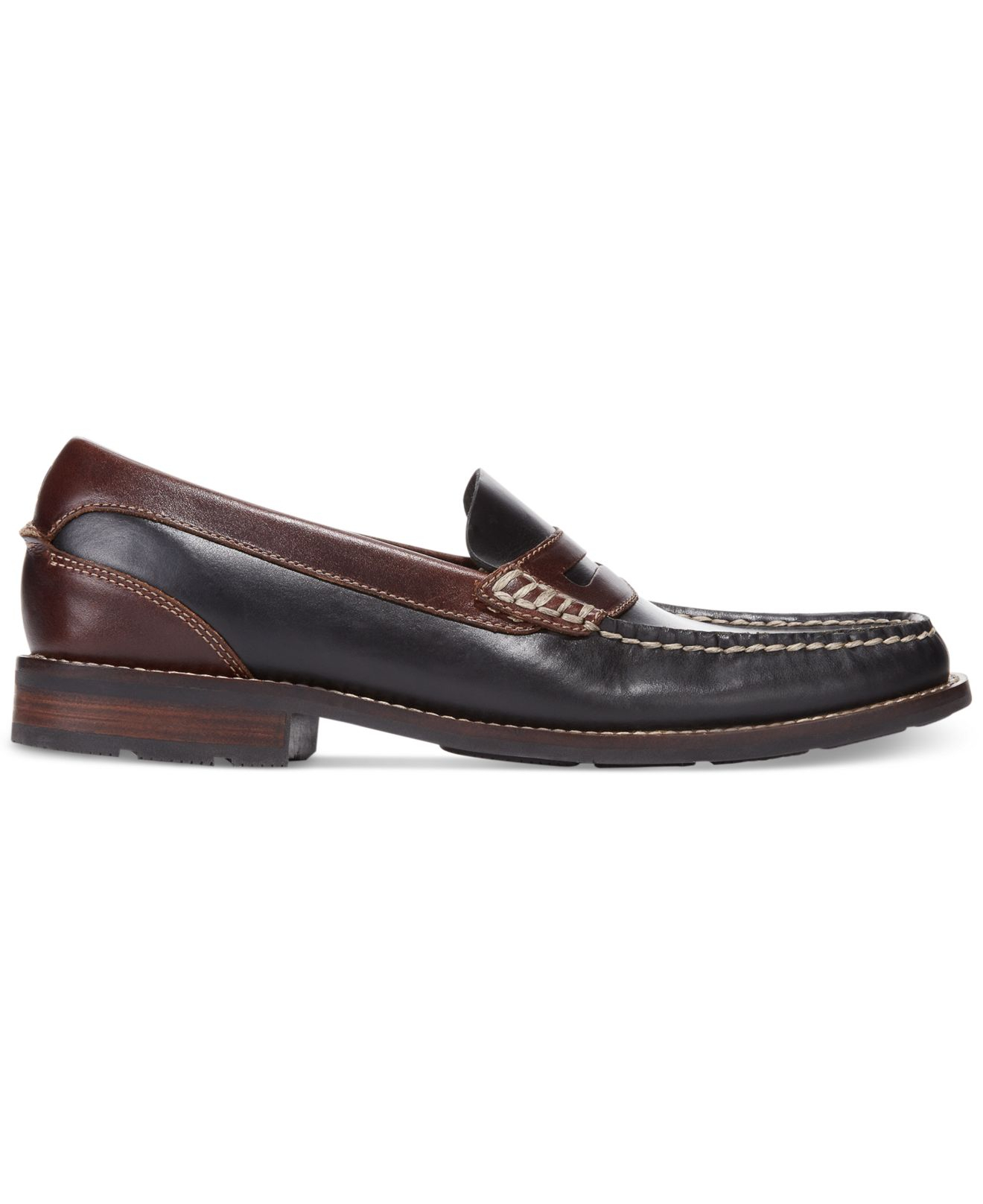 03a9549554d Lyst - Sperry Top-Sider Essex Penny Loafers in Black for Men