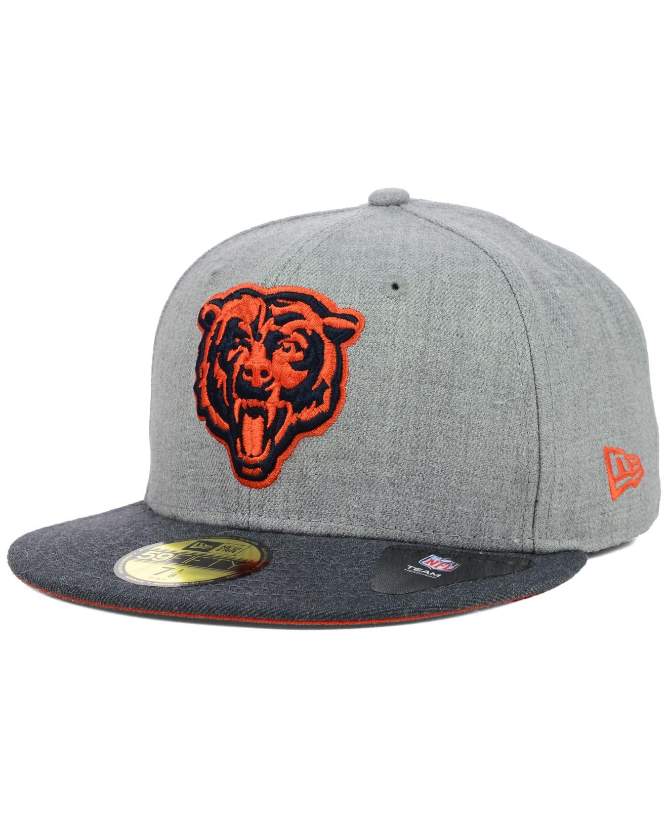 f83de8ad3ee Lyst - KTZ Chicago Bears Heather 2-Tone 59Fifty Cap in Gray for Men