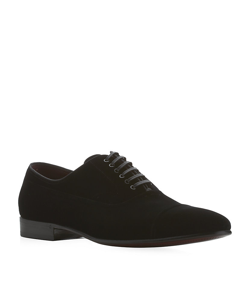 Dolce U0026 Gabbana Venezia Velvet Oxford Shoes In Black For ...