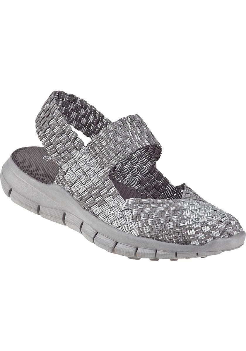Bernie Mev Romeo Sandal Silver Grey Multi Fabric In Gray Lyst