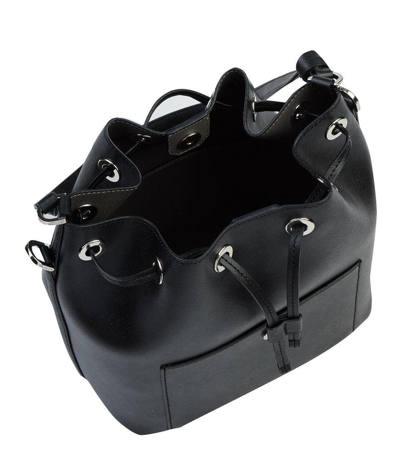 MICHAEL Michael Kors Greenwich Large Bucket Bag in Black - Lyst 50ef1b5a82ee7