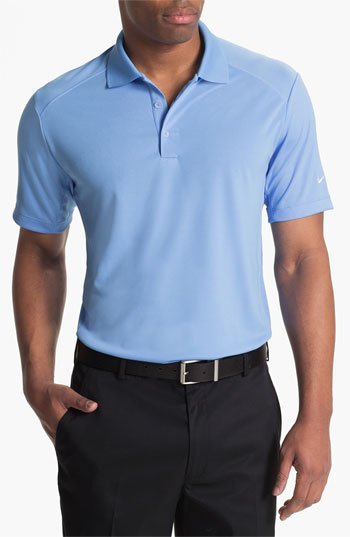 Nike dri fit 39 victory 39 golf polo in blue for men lyst for Nike dri fit victory golf shirts