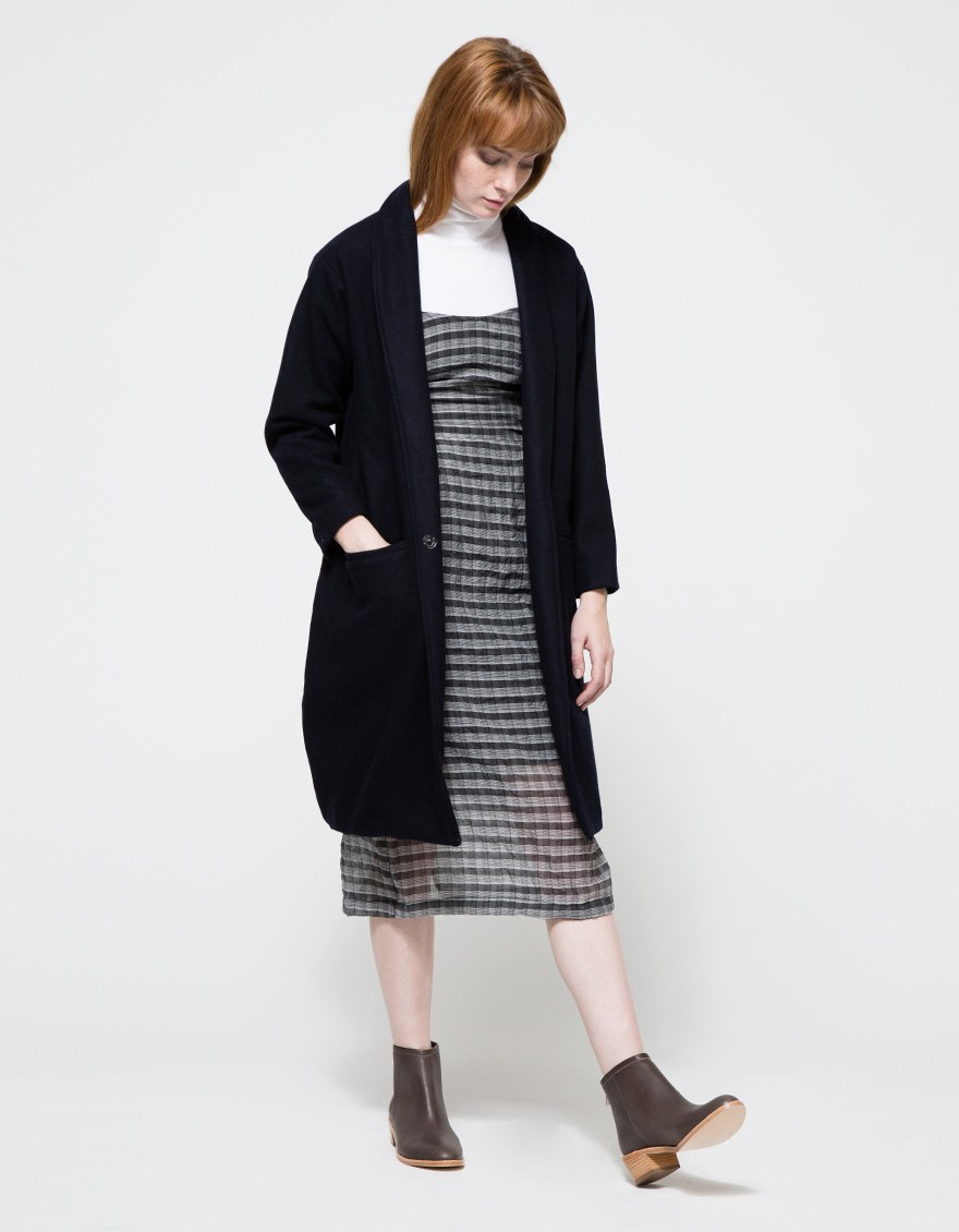 Objects Without Meaning Amber Dress In Plaid In Black