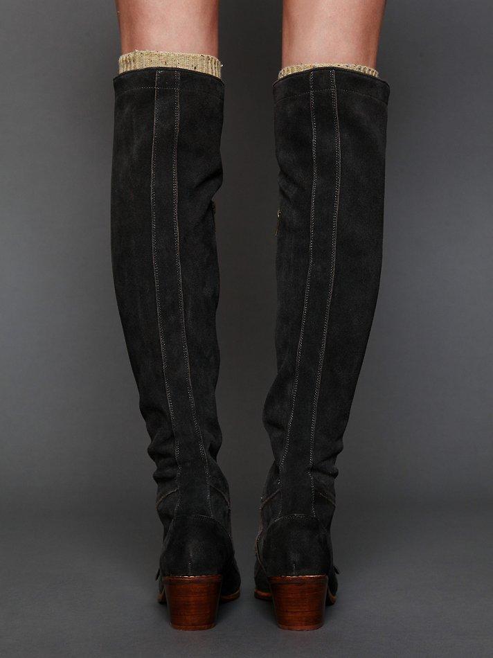 773f9b3d722 Free People Johnny Tall Boot in Black - Lyst