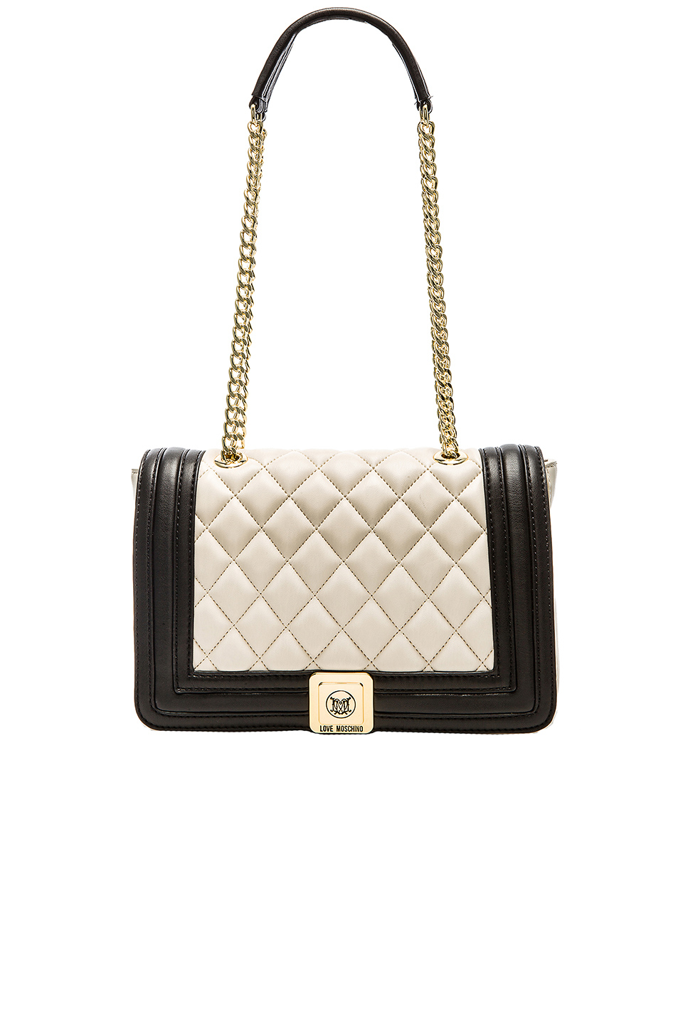 4c408af906a3 Lyst - Love Moschino Quilted Shoulder Bag in Natural