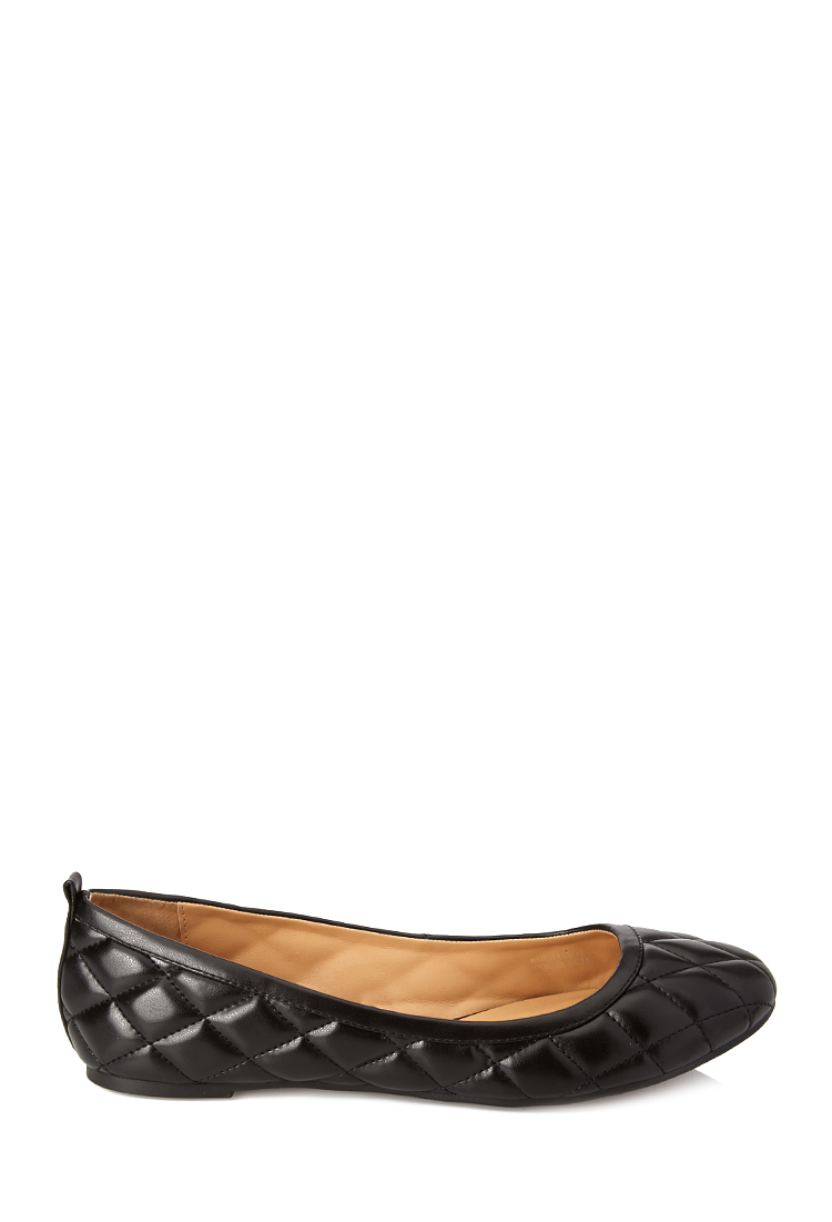 c07d401c088 Lyst Forever 21 Quilted Ballet Flats In Black. Prevnext. Chanel Black  Quilted Caviar Leather ...