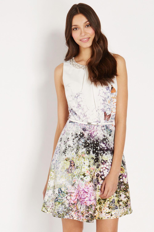 Oasis butterfly silk maxi dress