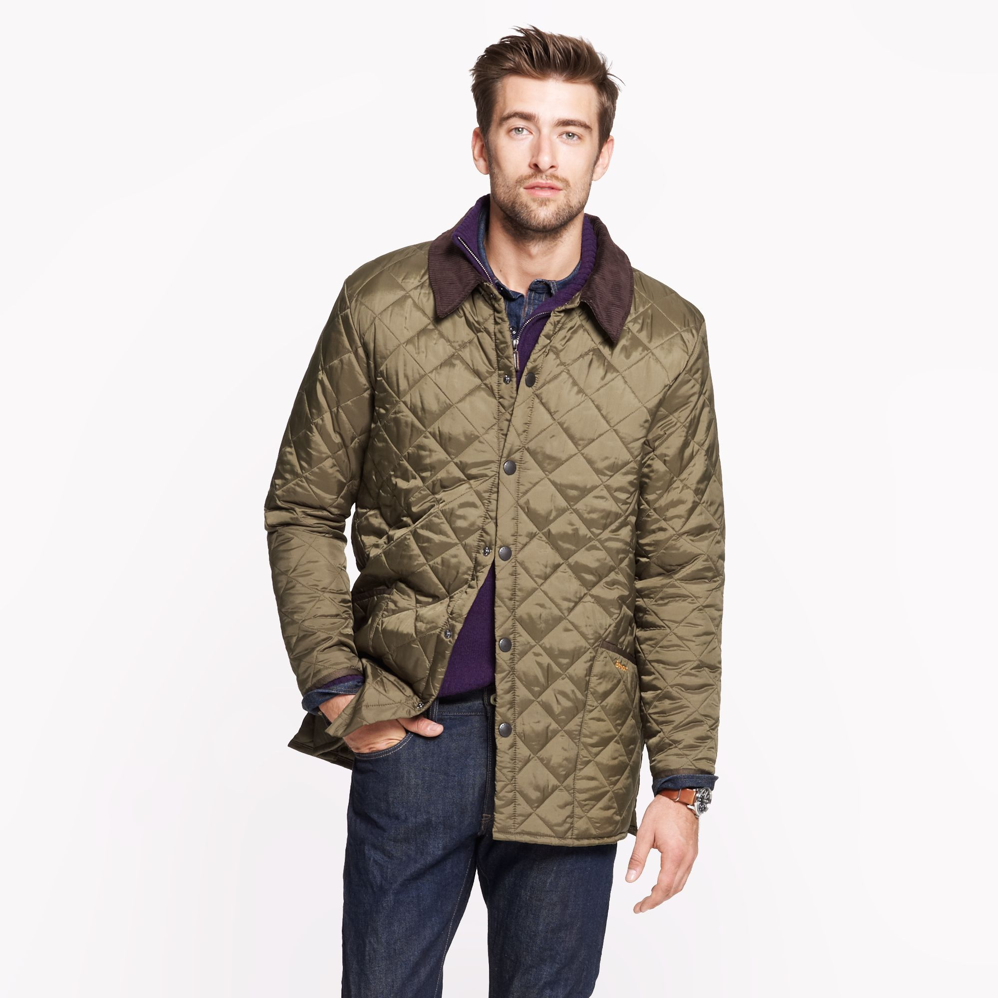 J Crew Barbour Liddesdale Jacket In Green For Men Lyst
