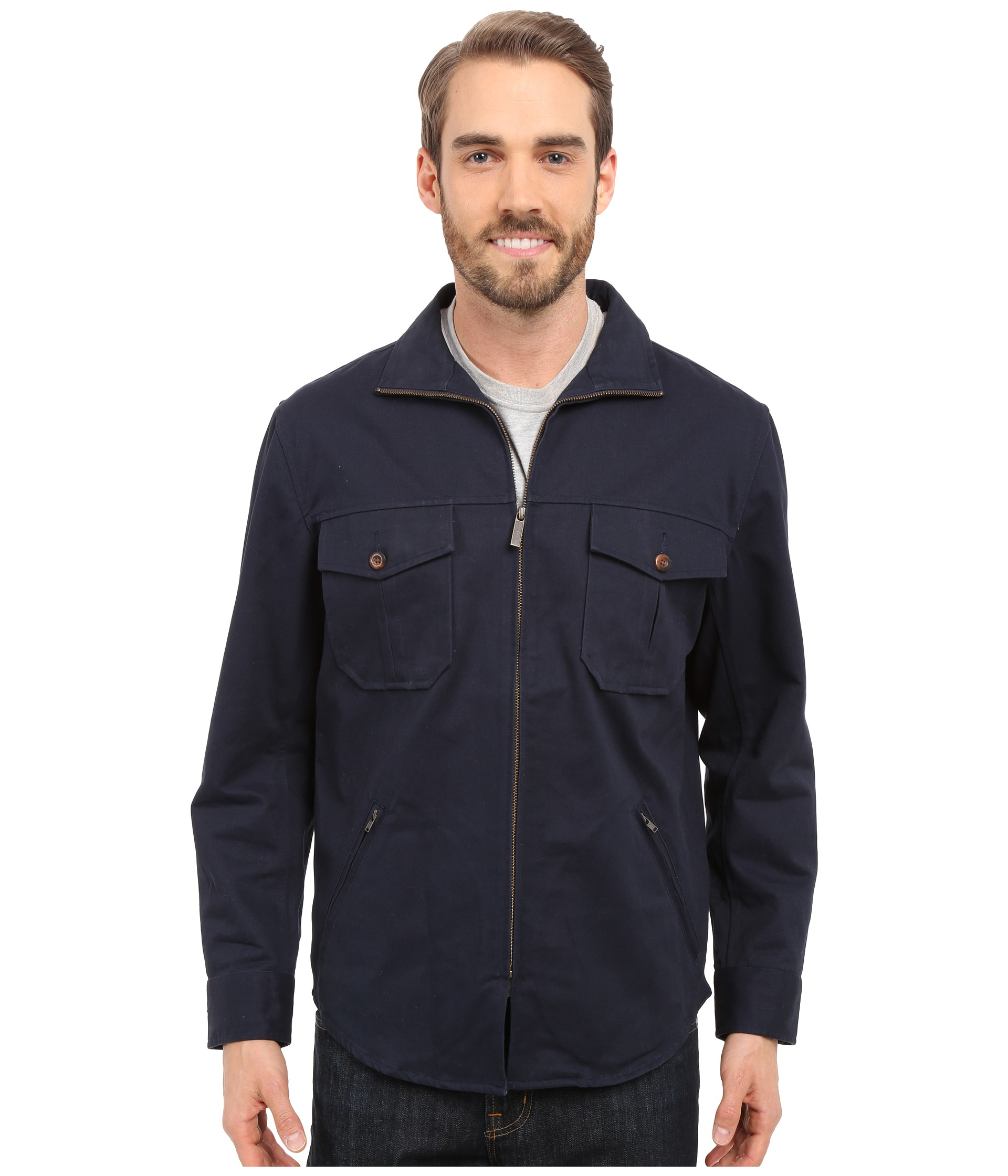 Pendleton Twill Shirt Jacket in Black for Men | Lyst