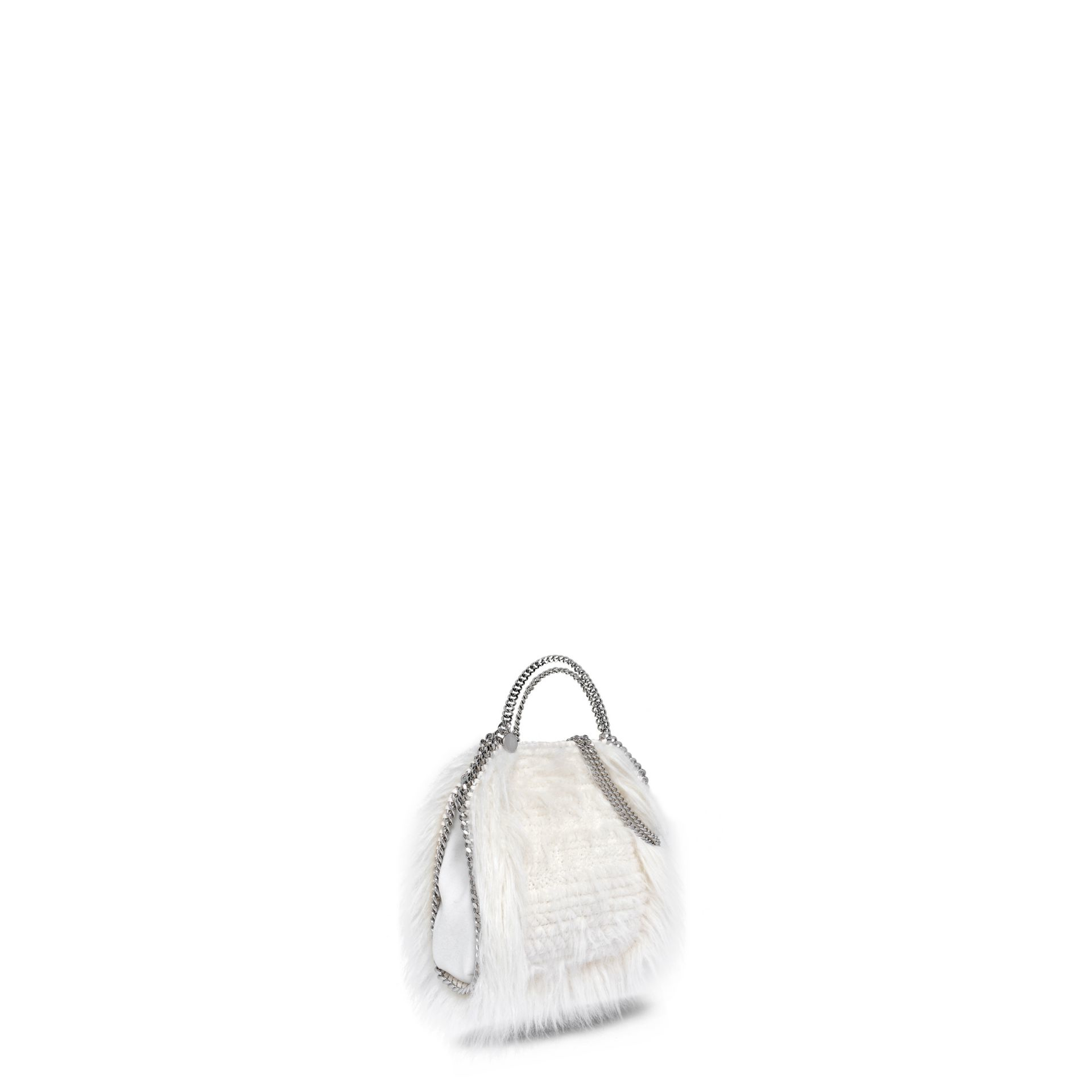 2c63d6178e61 Lyst - Stella McCartney Ivory Falabella Alter Fur Tiny Tote in White