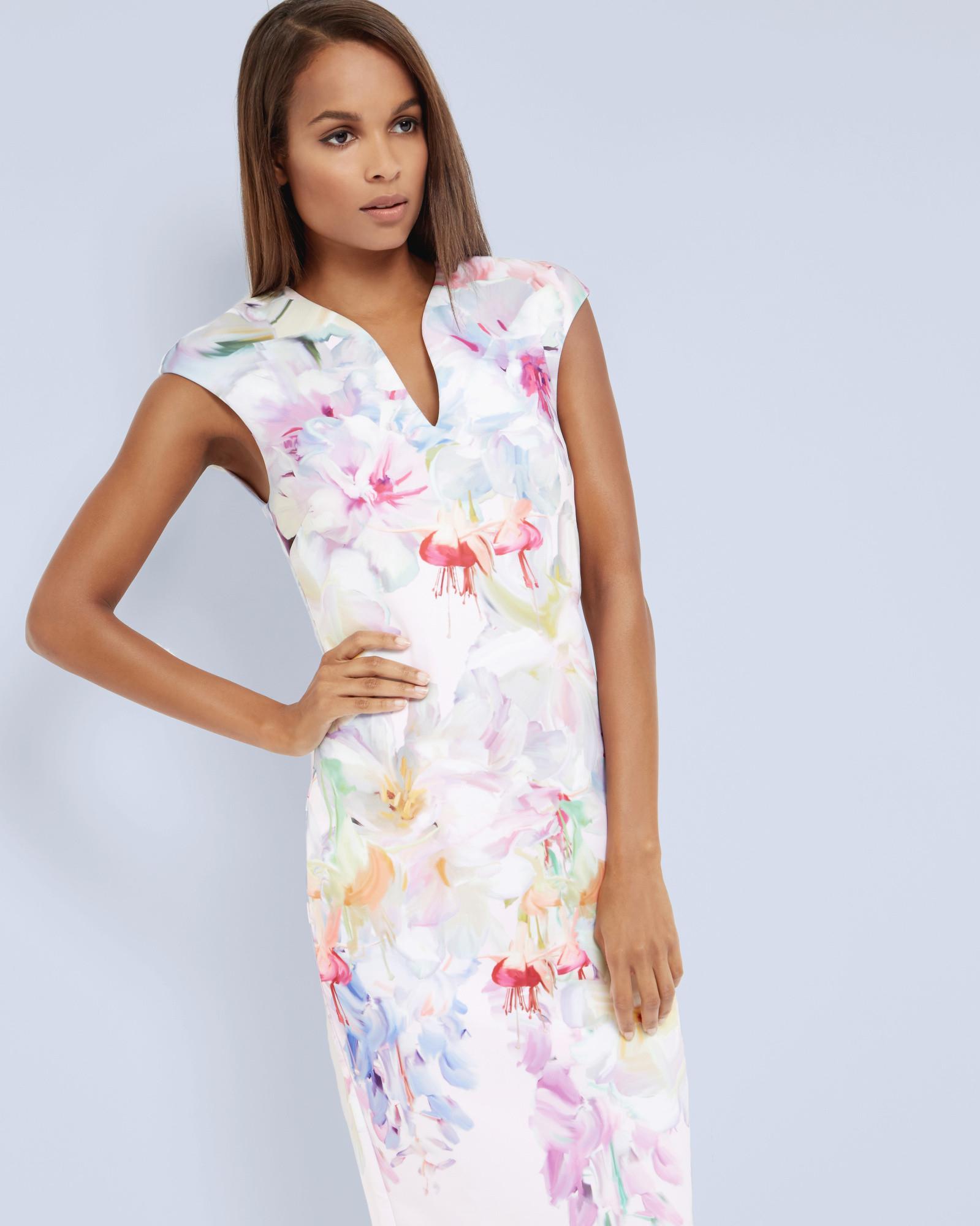 cf03c6877870b Lyst - Ted Baker Hanging Gardens Bodycon Dress