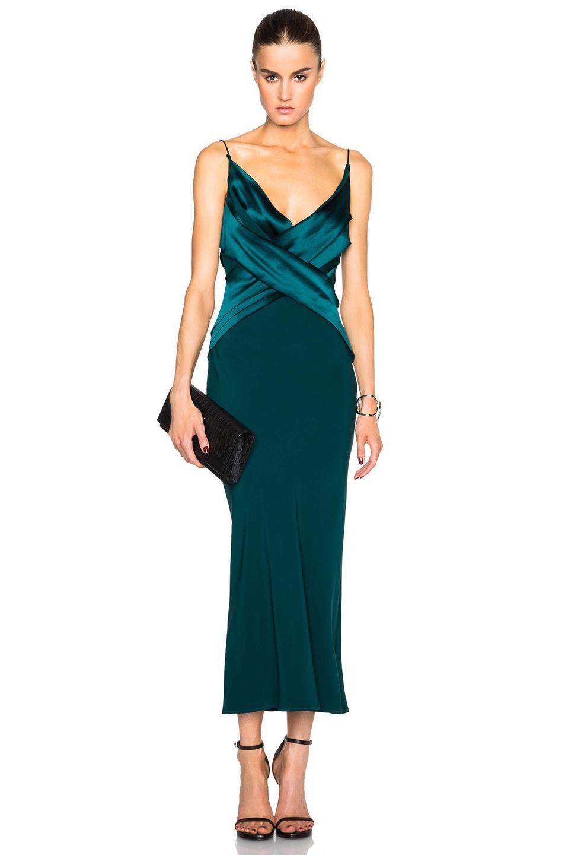 Dion Lee Silk Satin Bias Weave Dress In Blue Lyst