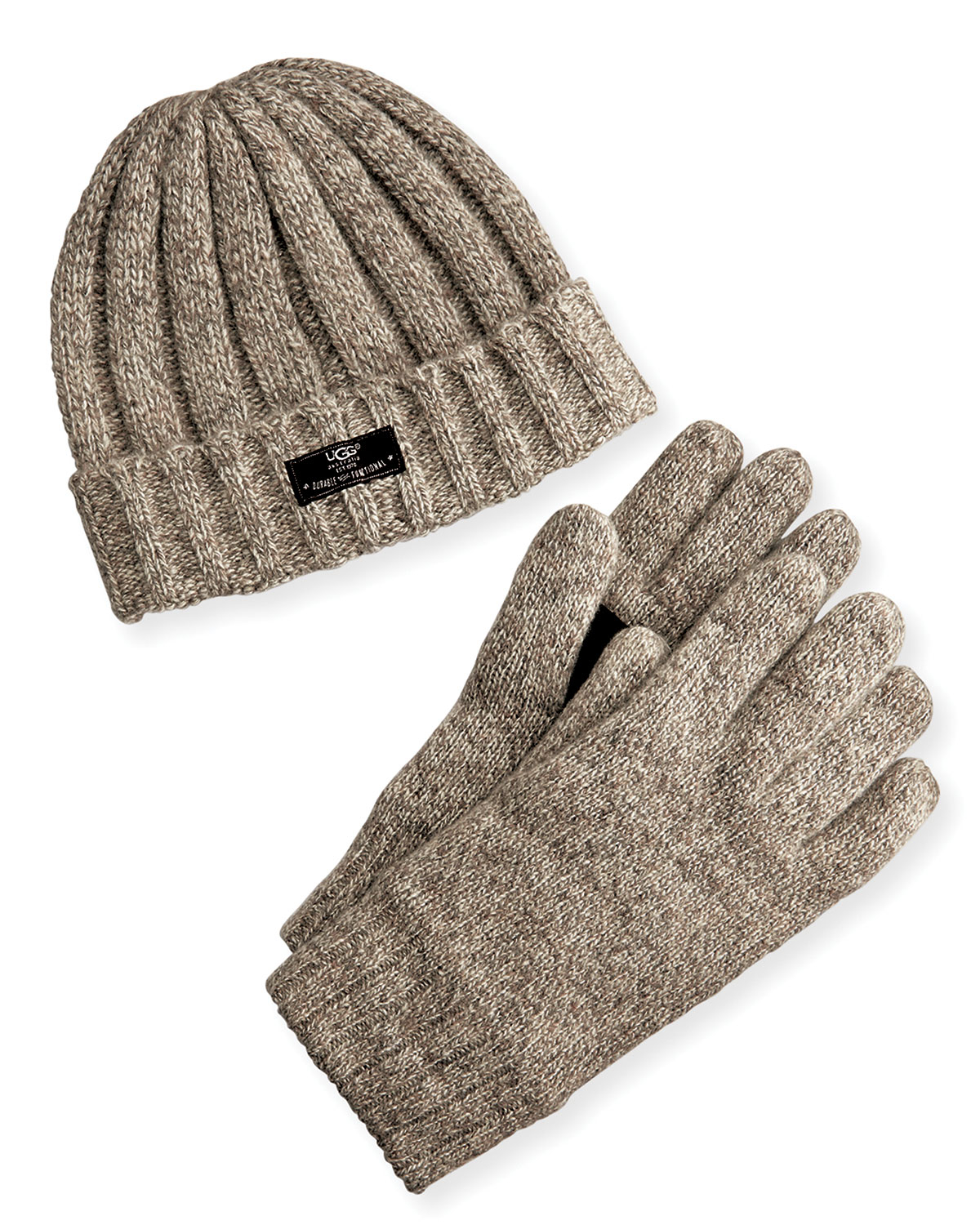 Lyst - UGG Men s Hat And Glove Box Set in Natural for Men 5023c6b2534