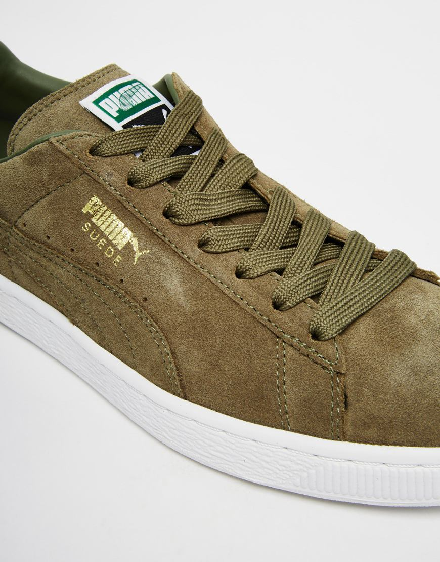 ab635a0b622 Lyst - PUMA Suede Classic Sneakers in Green for Men