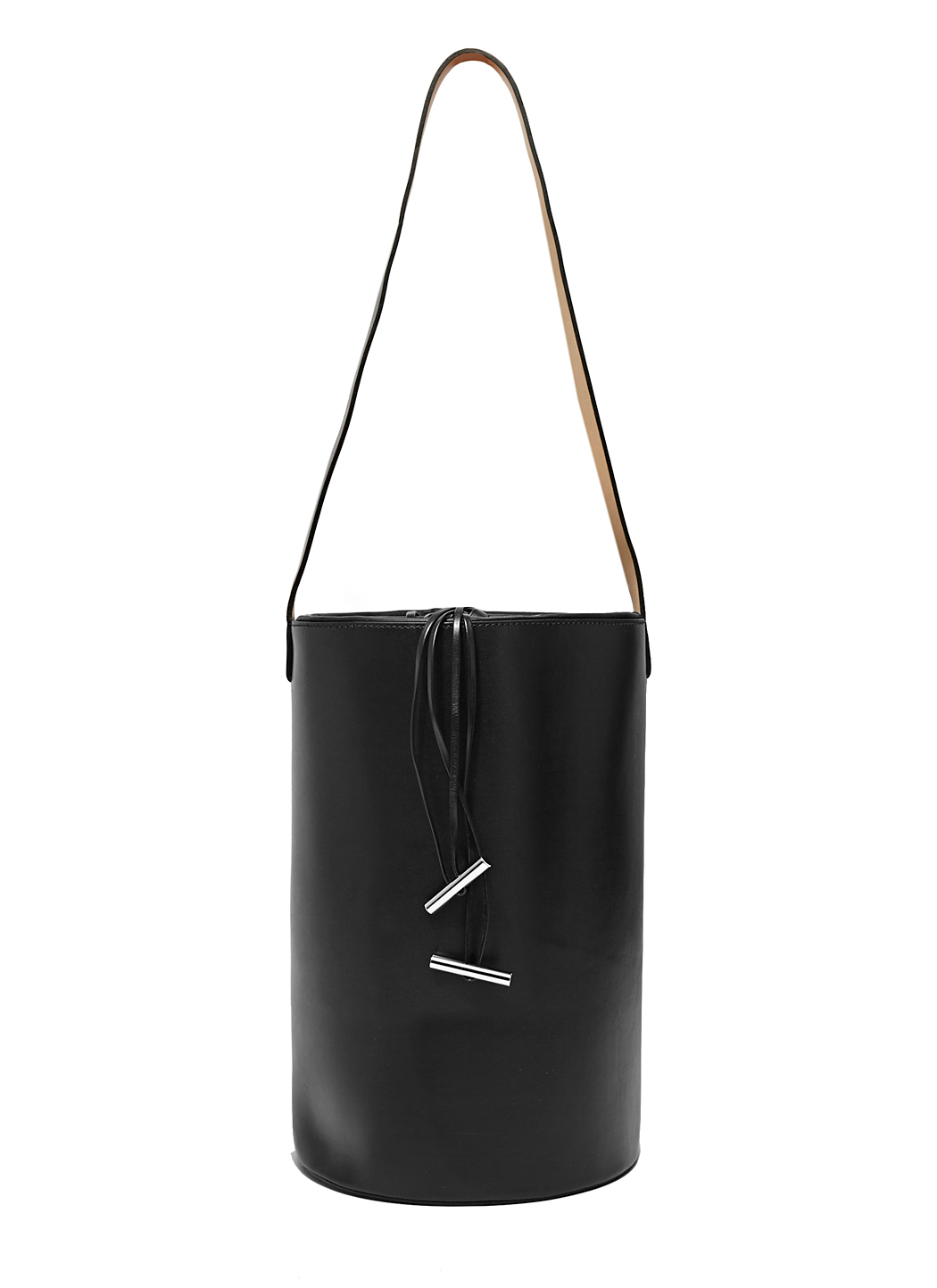 INEZ DRAWSTRING BAG IN EMBROIDERED NAPPA LAMBSKIN