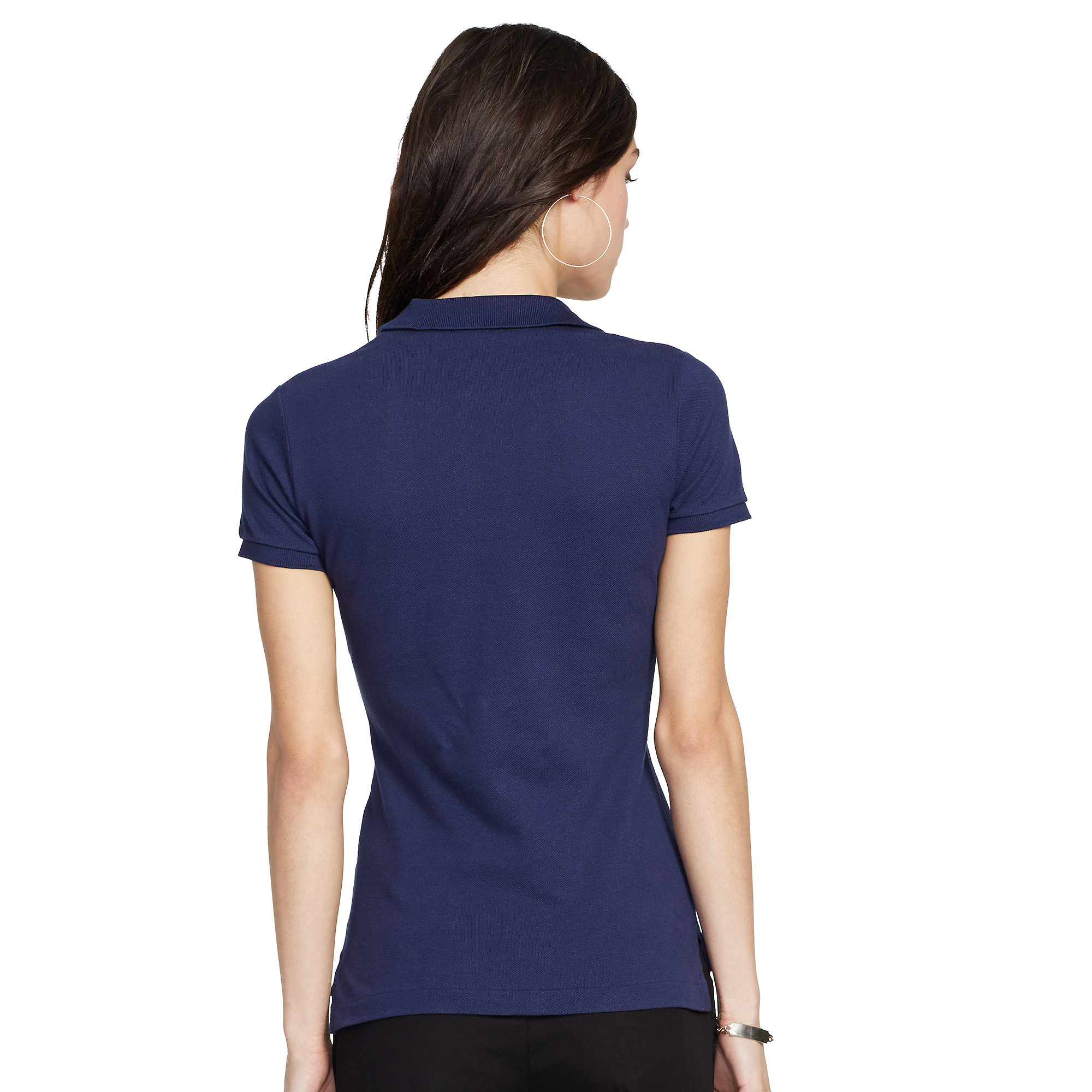 polo ralph lauren skinny fit big pony polo shirt in blue. Black Bedroom Furniture Sets. Home Design Ideas
