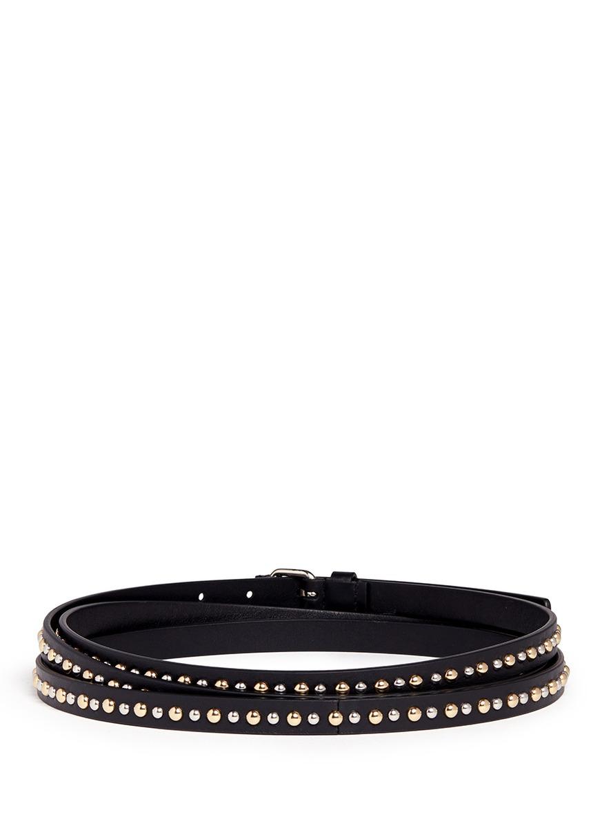 givenchy rivet wrap leather belt in black lyst