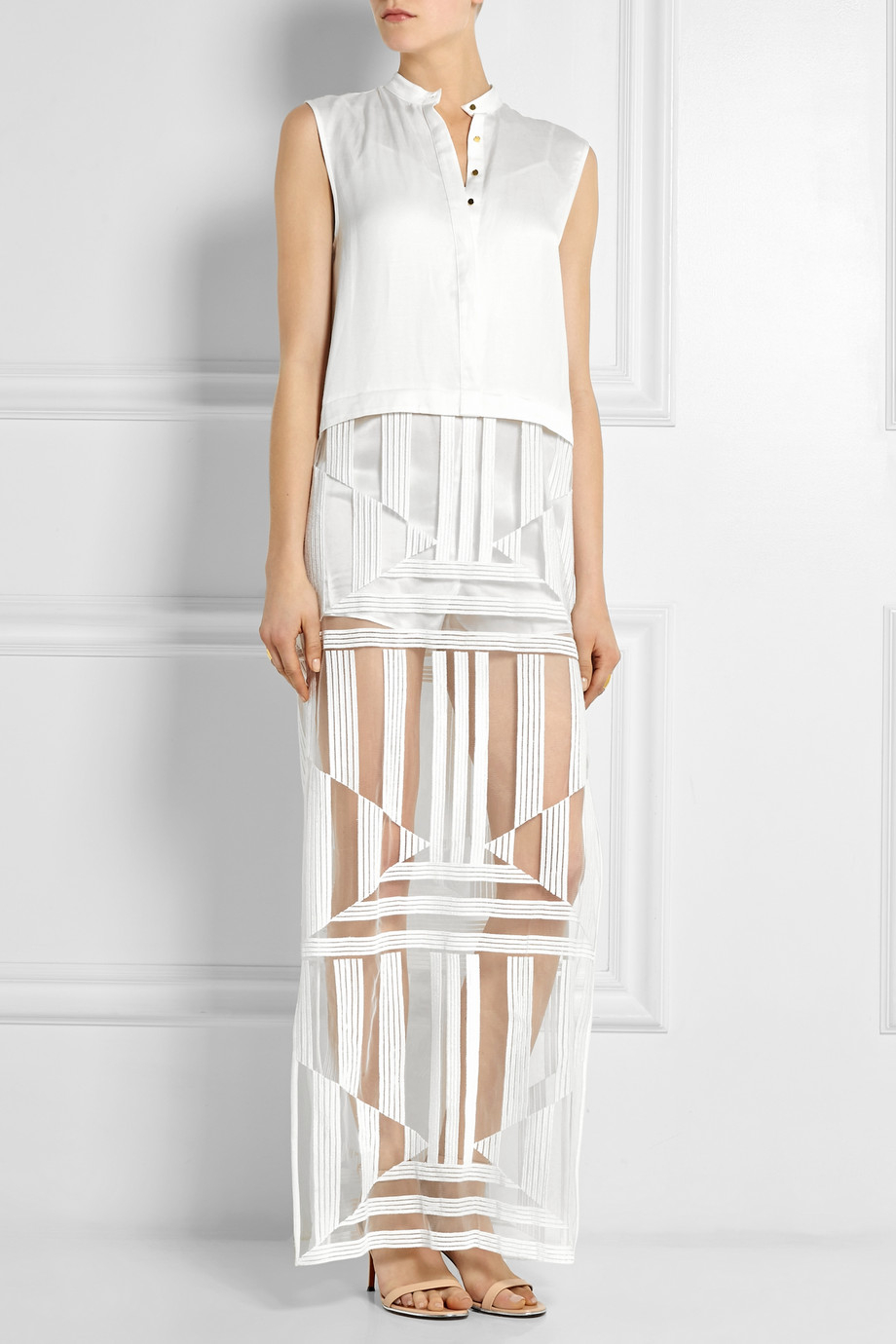 Sass & Bide Silk Maxi Dress Hurry Up Clearance Shop NhnE5O