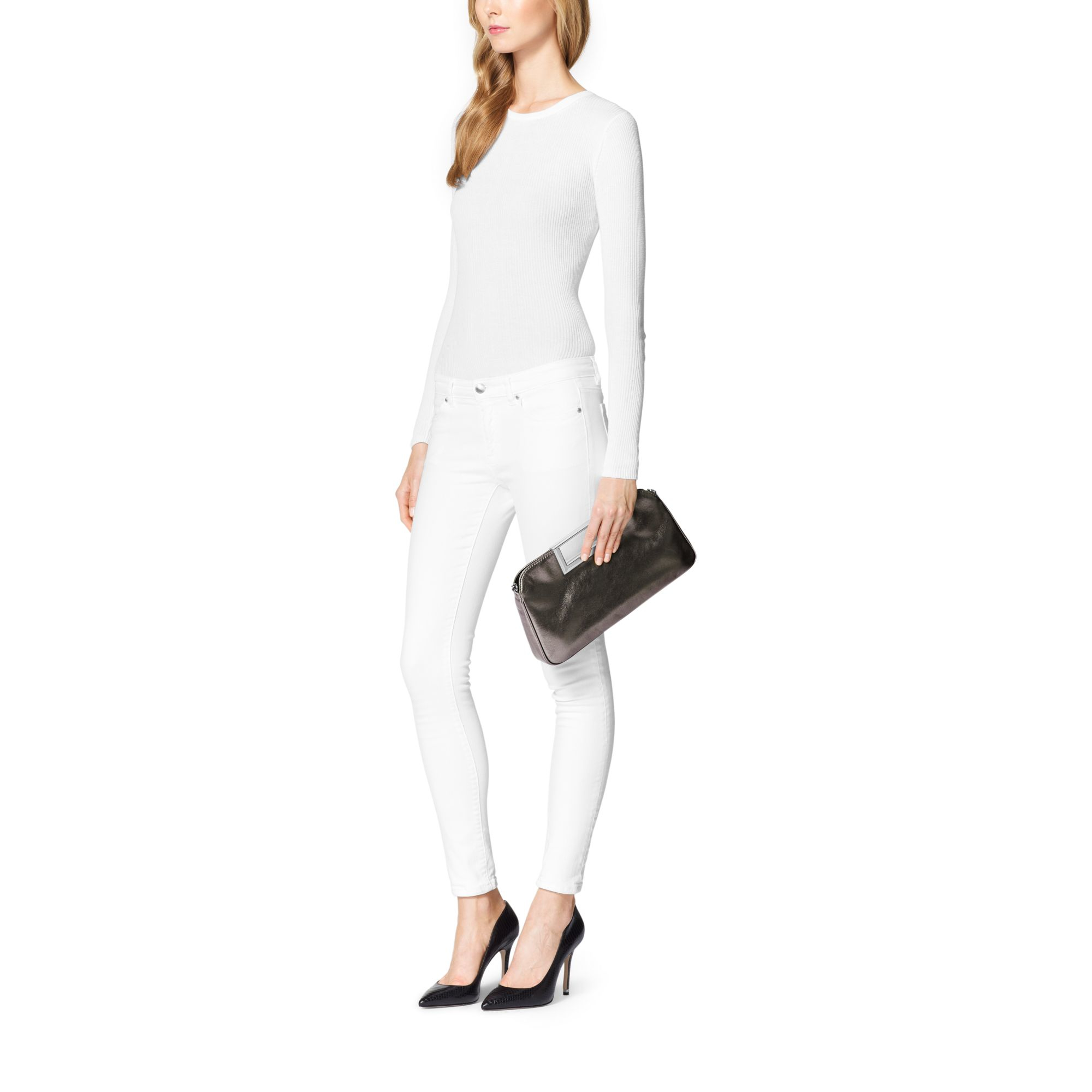 bd6dcec954e9 Womens Metallic Clutch Bags Womens Michael By Michael Kors Berkley .