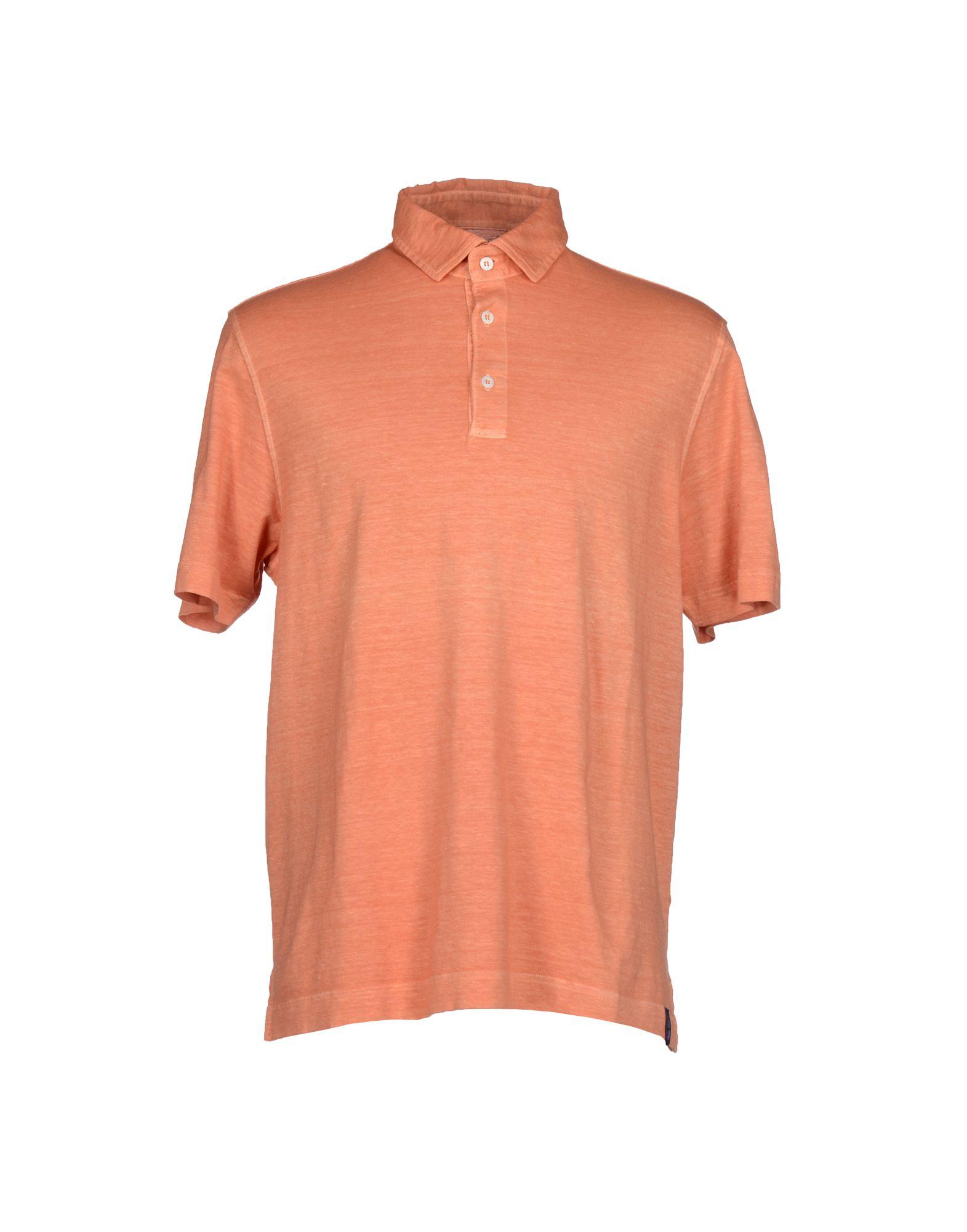 Drumohr polo shirt in orange for men lyst for Orange polo shirt mens
