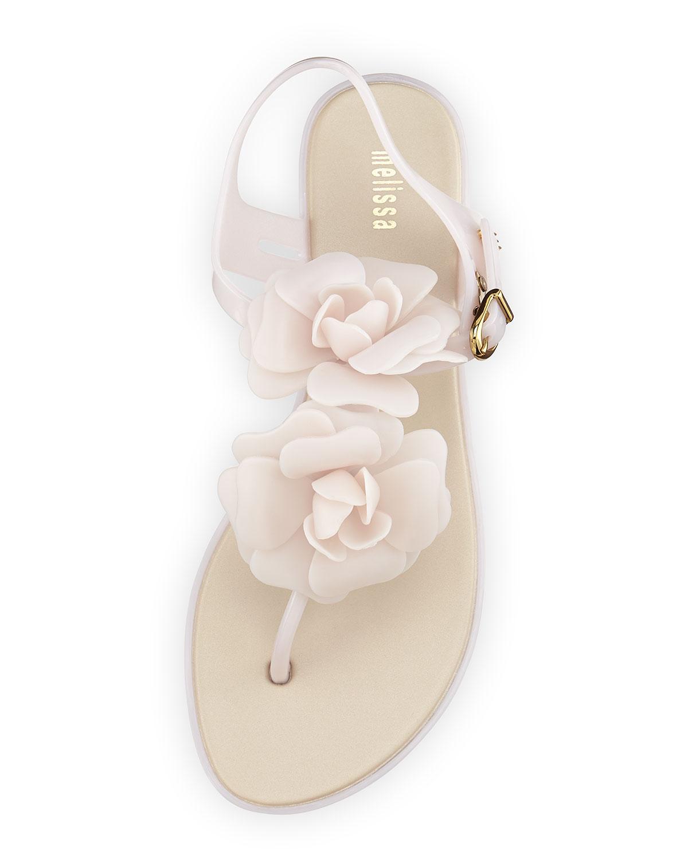 8206f00b8bcd Lyst - Melissa Solar Garden Thong Sandal in Pink