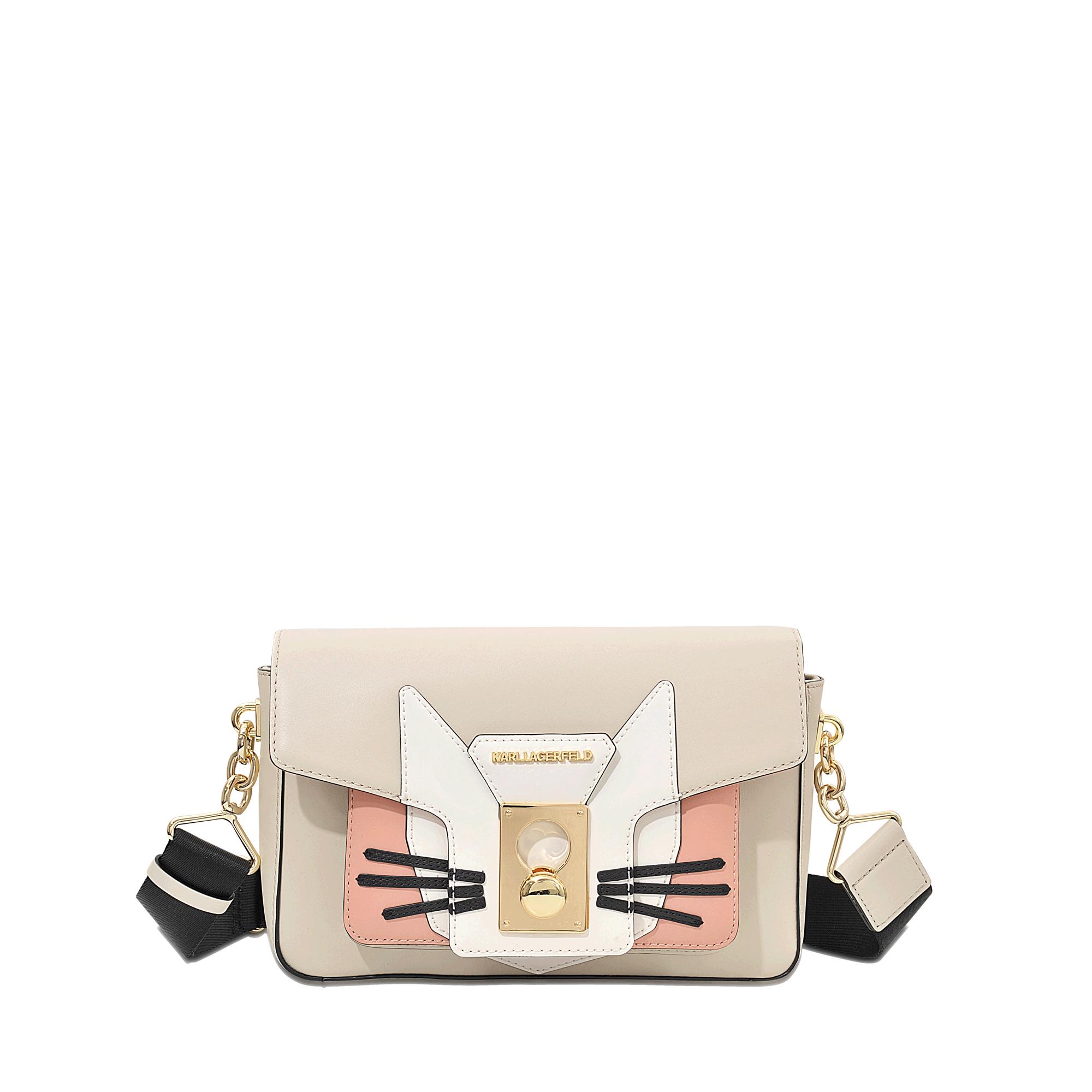 Lyst Karl Lagerfeld K Pin Closure Cat Shoulder Bag In Natural