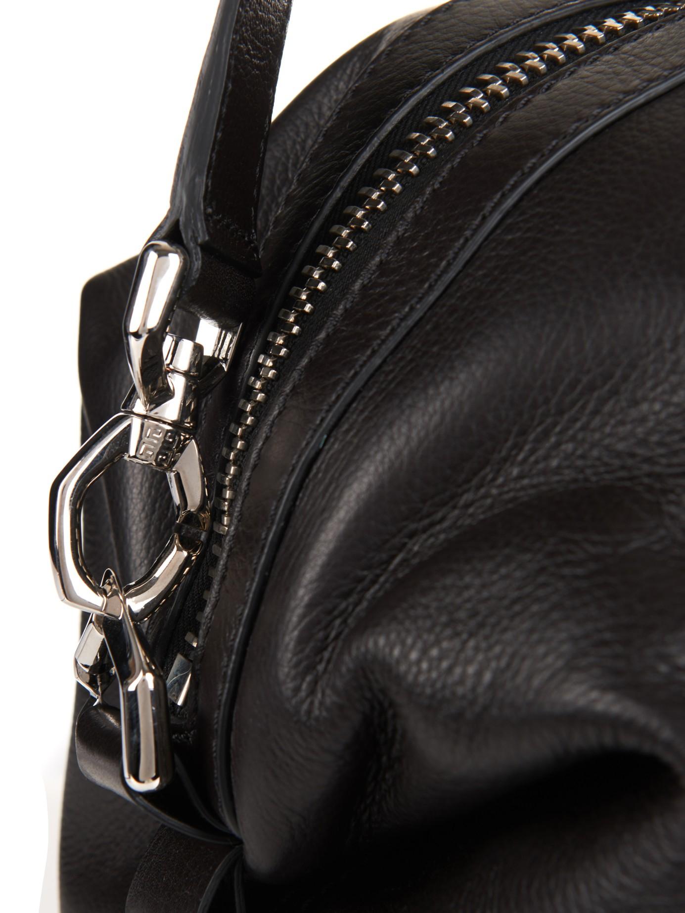 Lyst - Givenchy Nightingale Leather Shoulder Bag in Black da9de0dd3324e