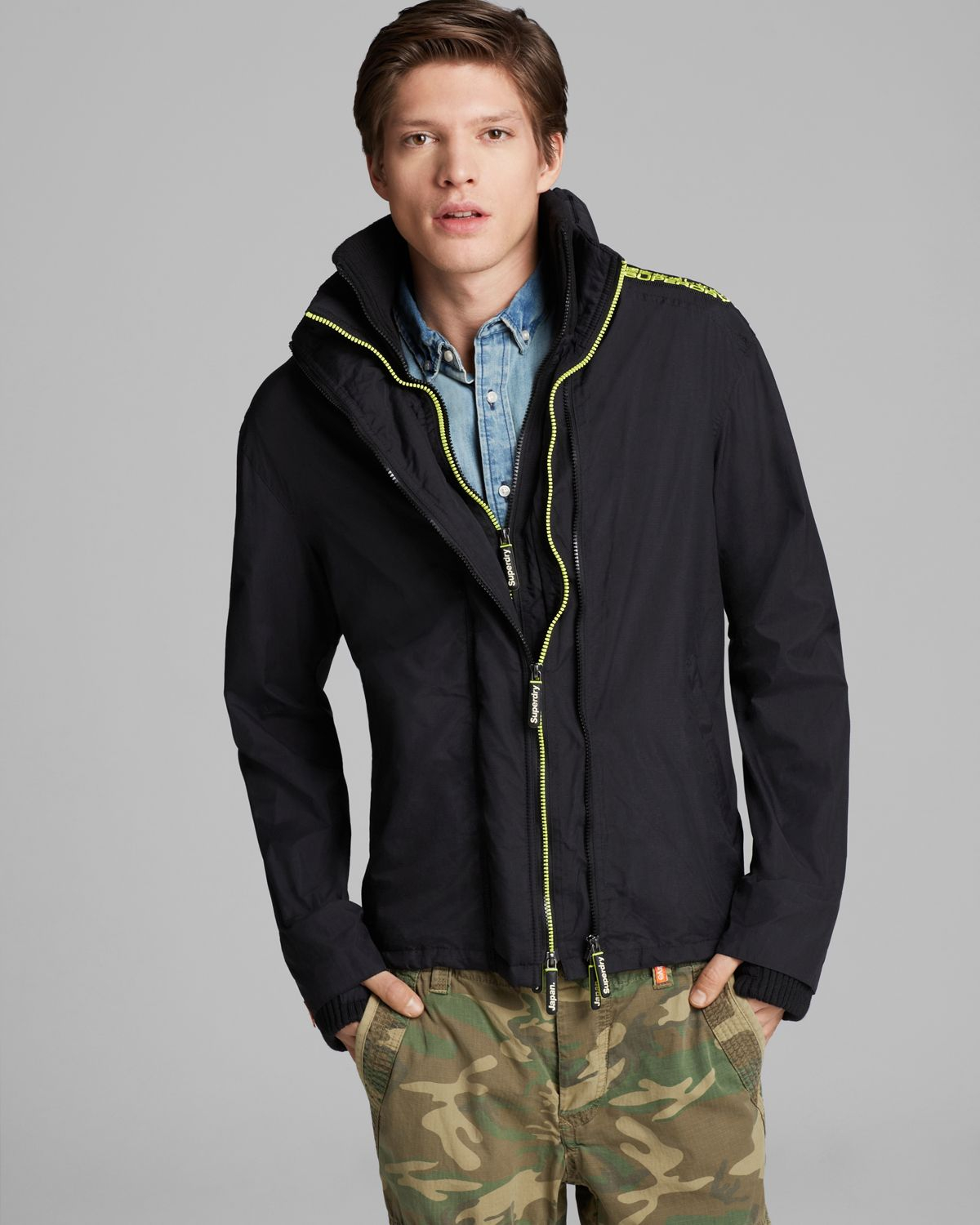 Superdry: Superdry Technical Popzip Windcheater Jacket In