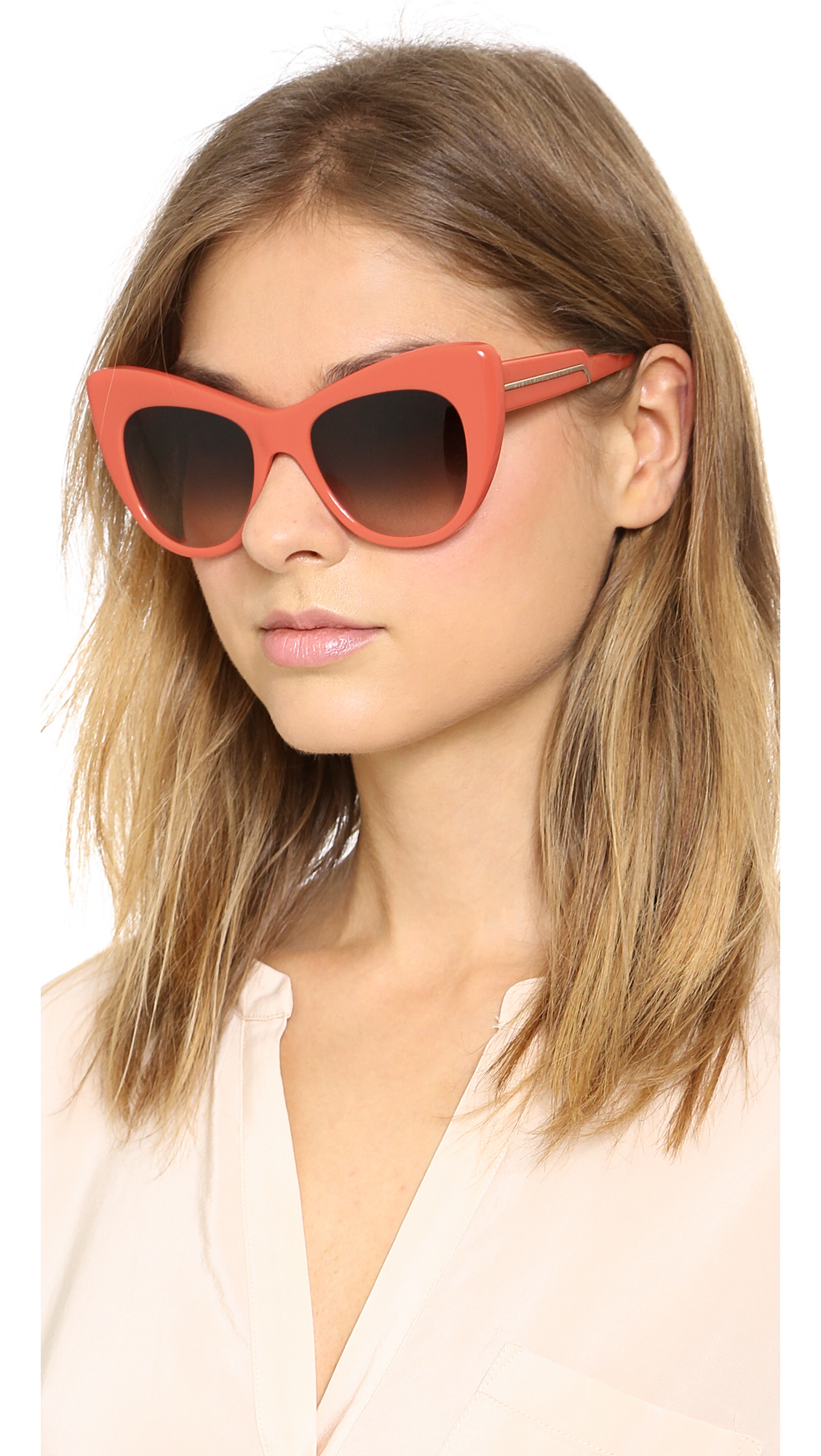 Lyst Stella Mccartney Cat Eye Sunglasses Bright
