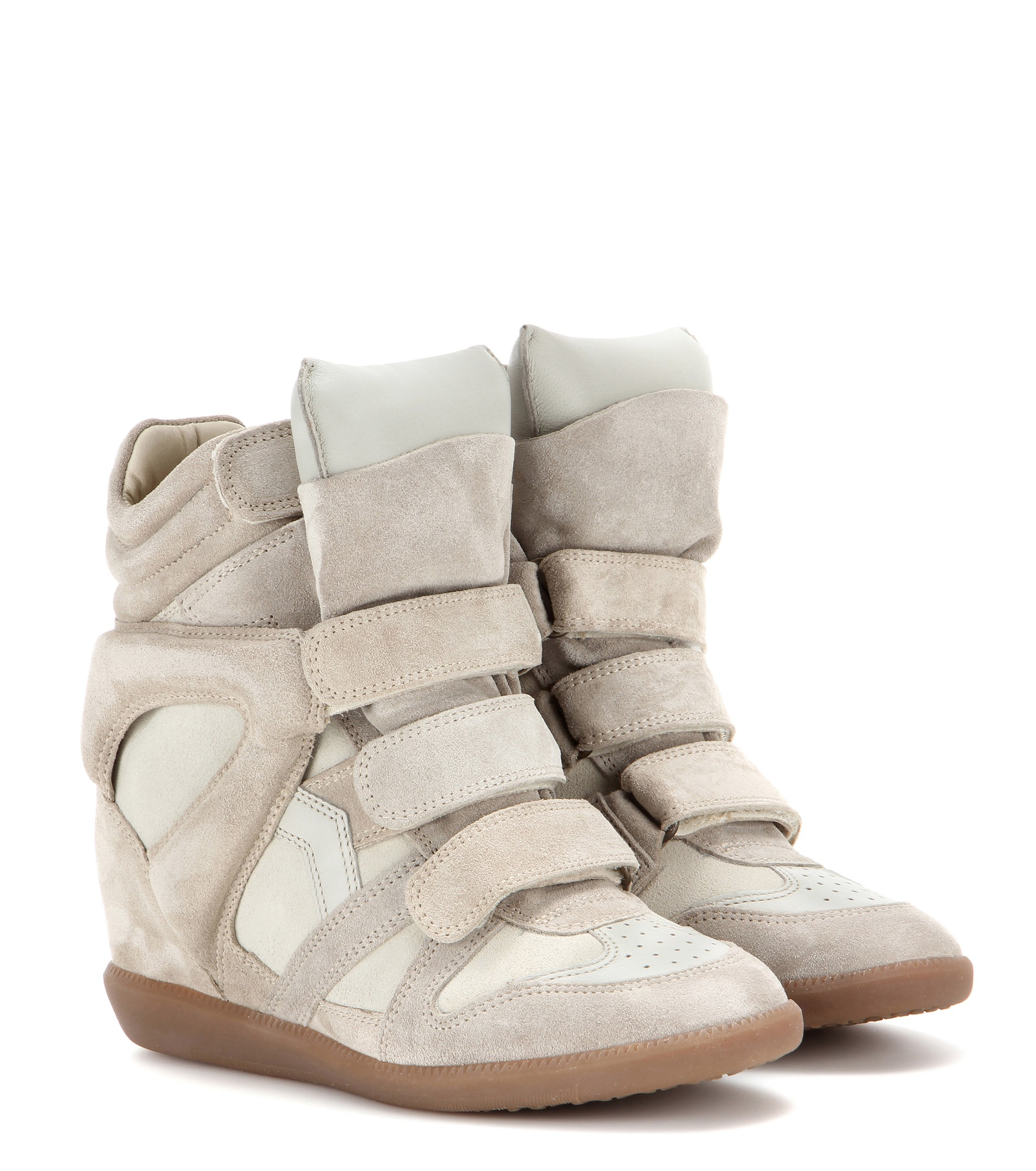 84dd437c Isabel Marant Étoile Bekett Leather and Suede Sneakers in Natural - Lyst